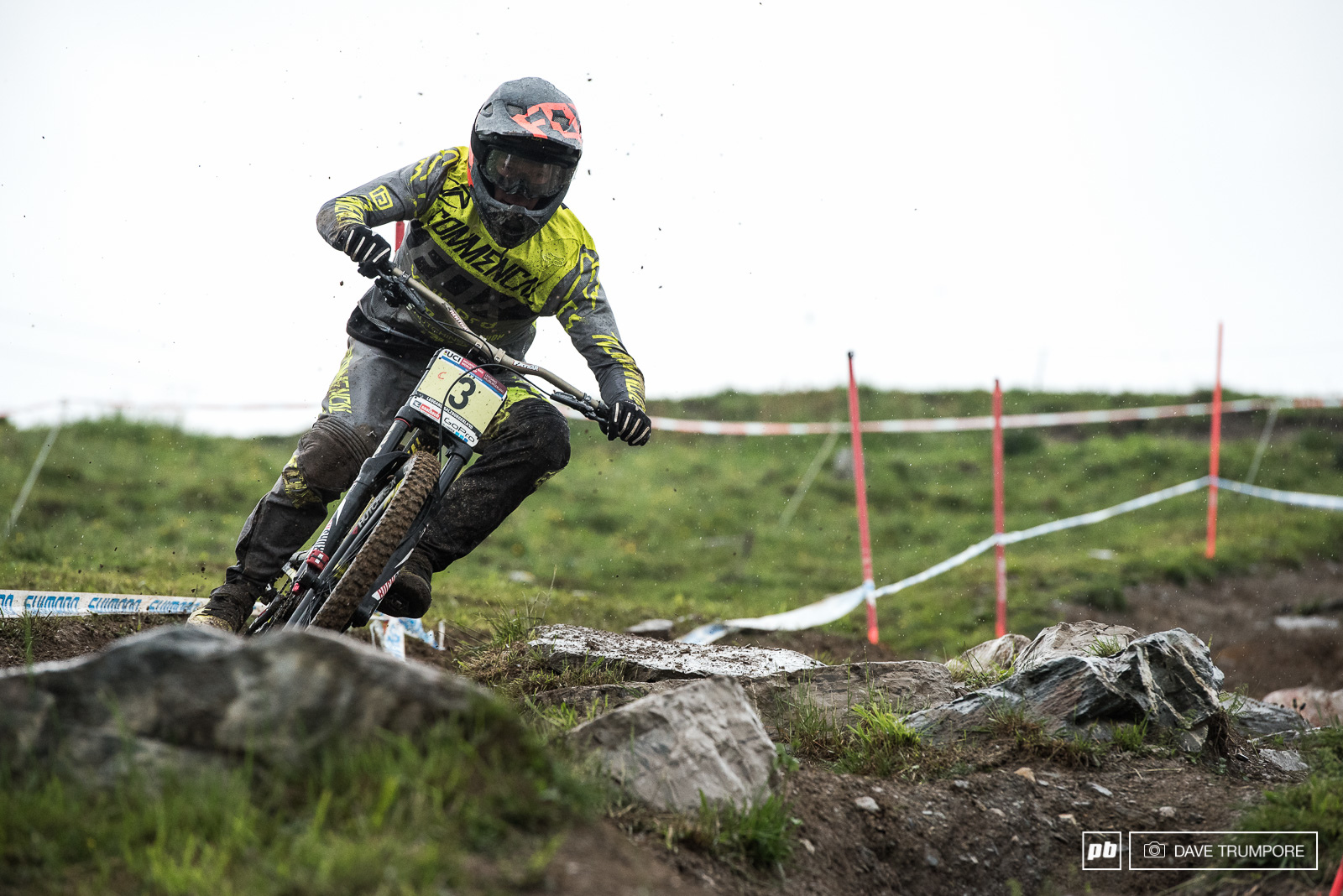 Riding on a high after last weeks result in Fort William Gaetan Vige matched the number on his race plate to take 3rd in qualifying.