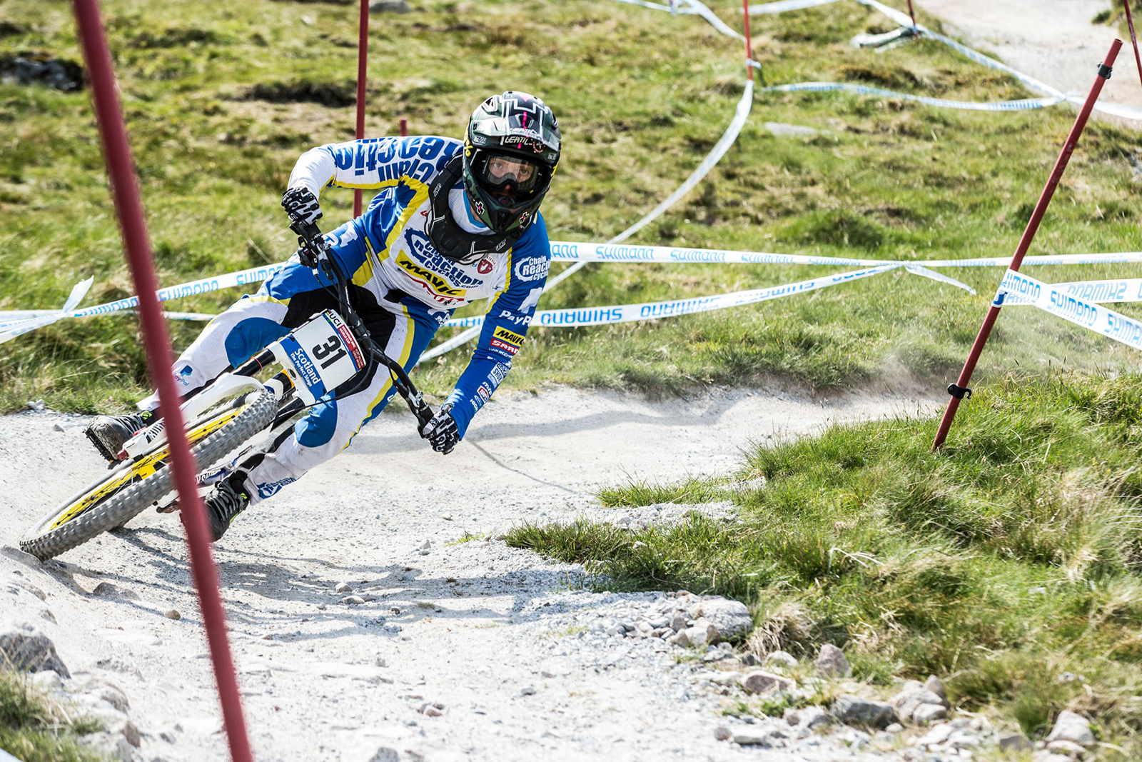 Team Chain Reaction Cycles Paypal - Fort William World Cup 2016. Photo credit Duncan Philpott