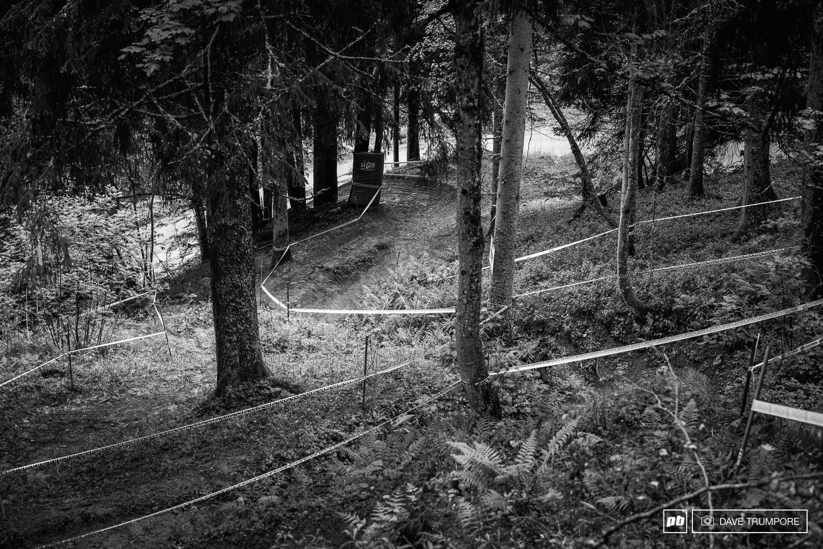 If you ve ever seen footage of the WC and World Championship races held here in the past you might recognize this gully as one of the more iconic and classic sections of the track.