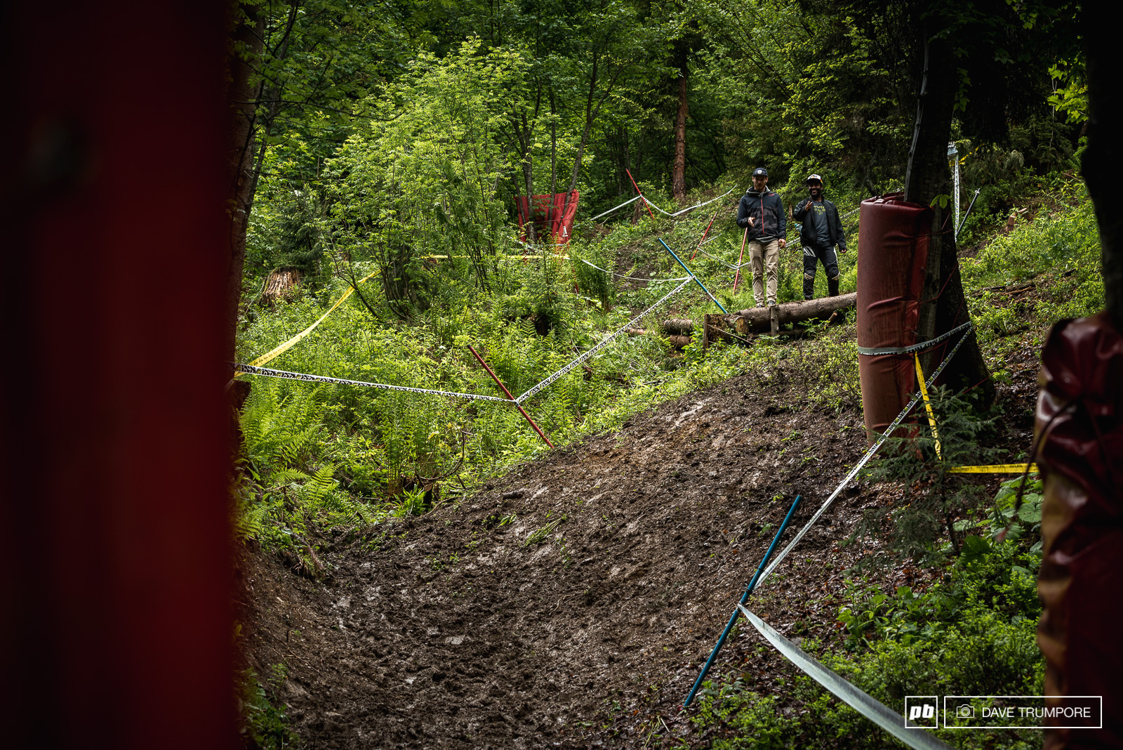 Eliot Jackson and Bas Van Steenburgen discuss what it s going to be like to land on this off camber and slide all the way down through the natural catch berm.