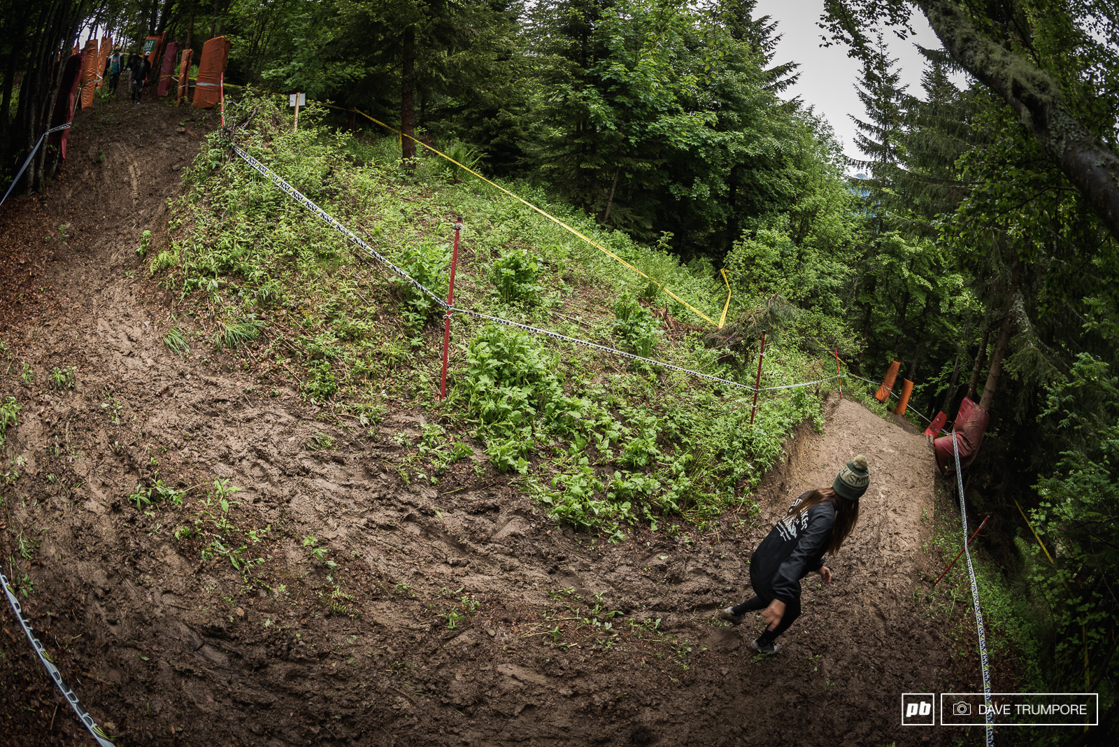 The woods are a constant combination of big sweeping corners off cambers and jumps. Get them right and you will have speed and flow even in the mud. Get them wrong and you might just slide all the way into Switzerland.