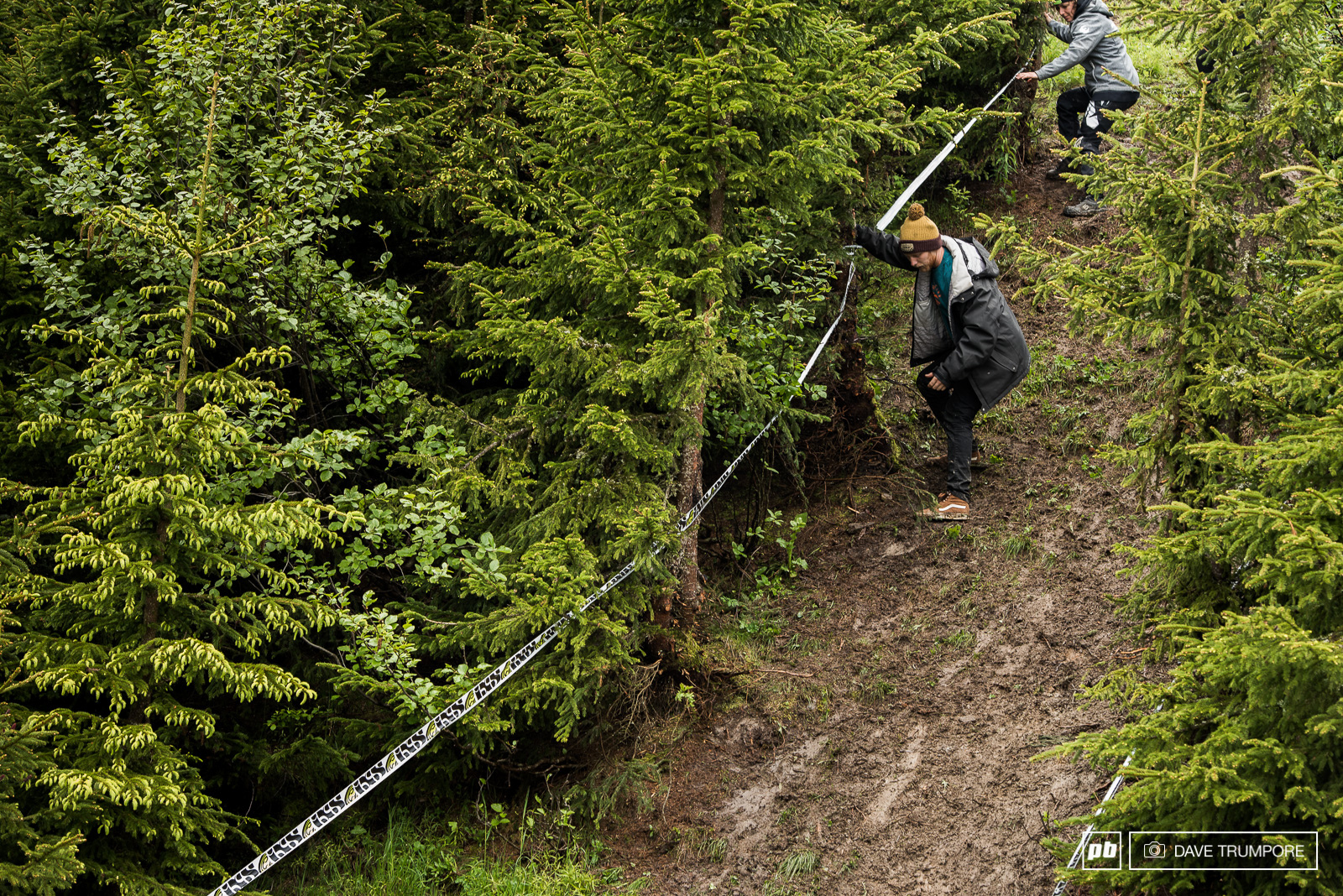 Just a bit steep as the track transition from open slope to trees.