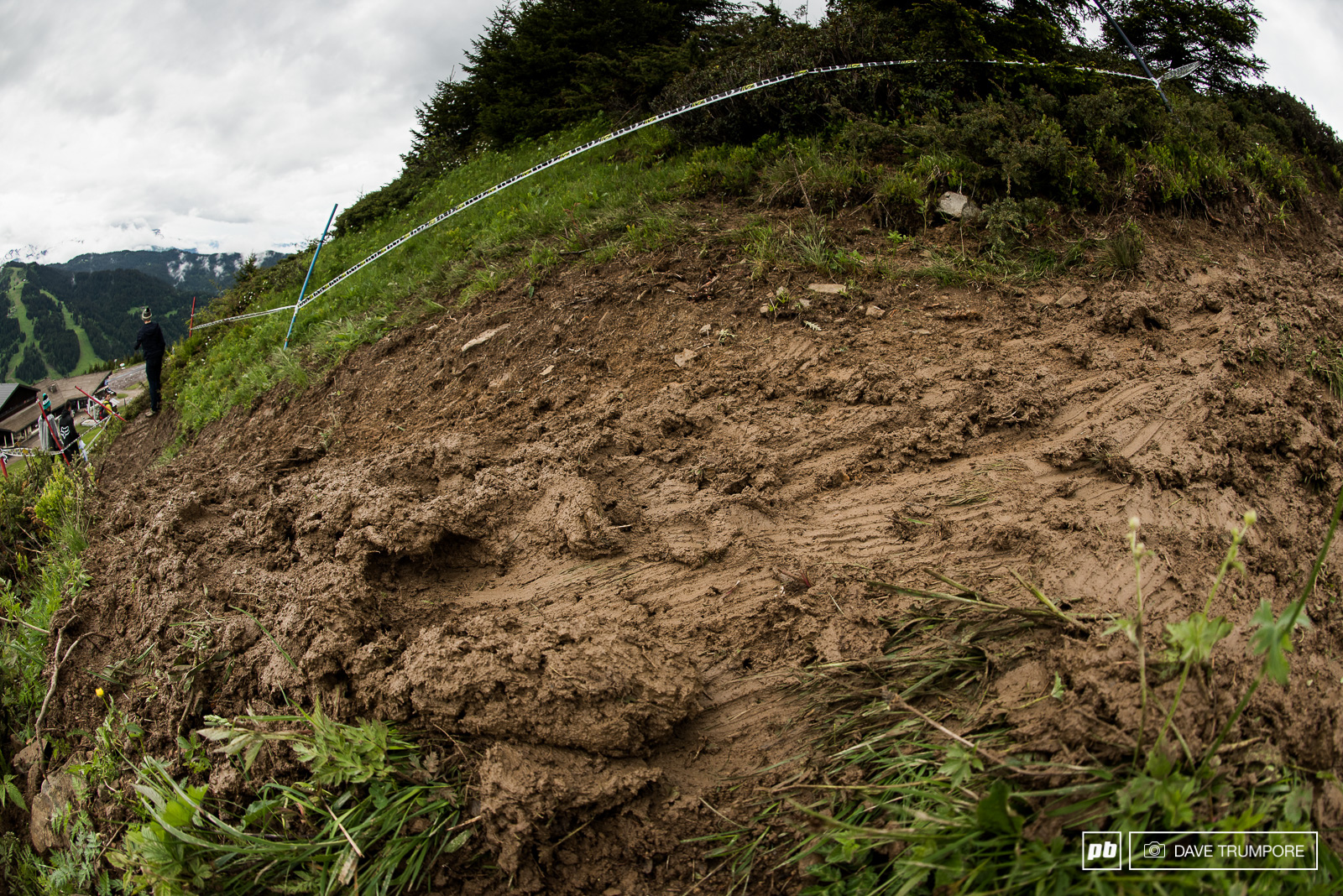 With not a rut or catch berm in sight it s going to be a sideways slip and slide until riders cut in a proper racing line.