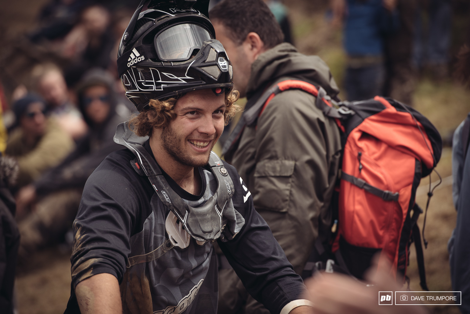 Antoine Bizet all smiles when he finally stuck his best trick after a few hard slams.