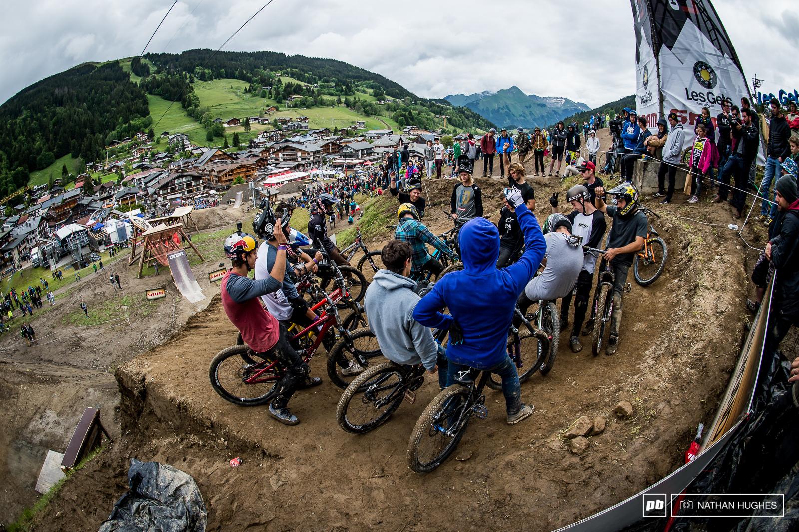 The riders vote