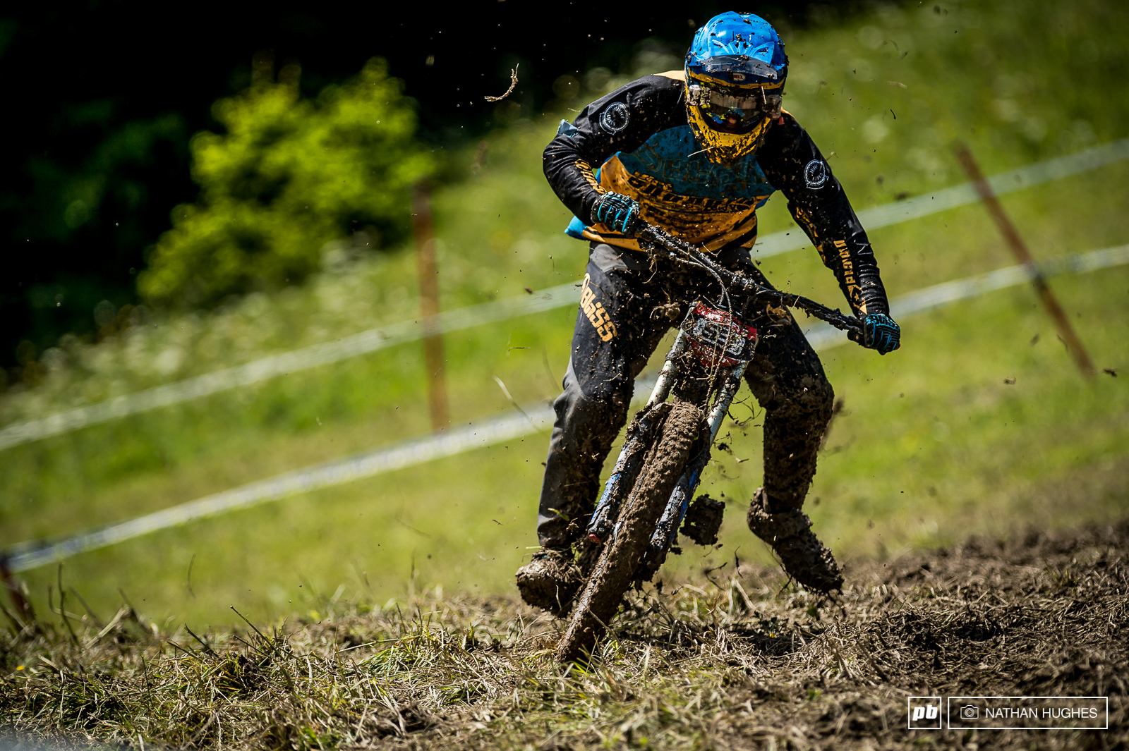 Phil Atwill one of many riders to have a bit of nightmare out there this week.