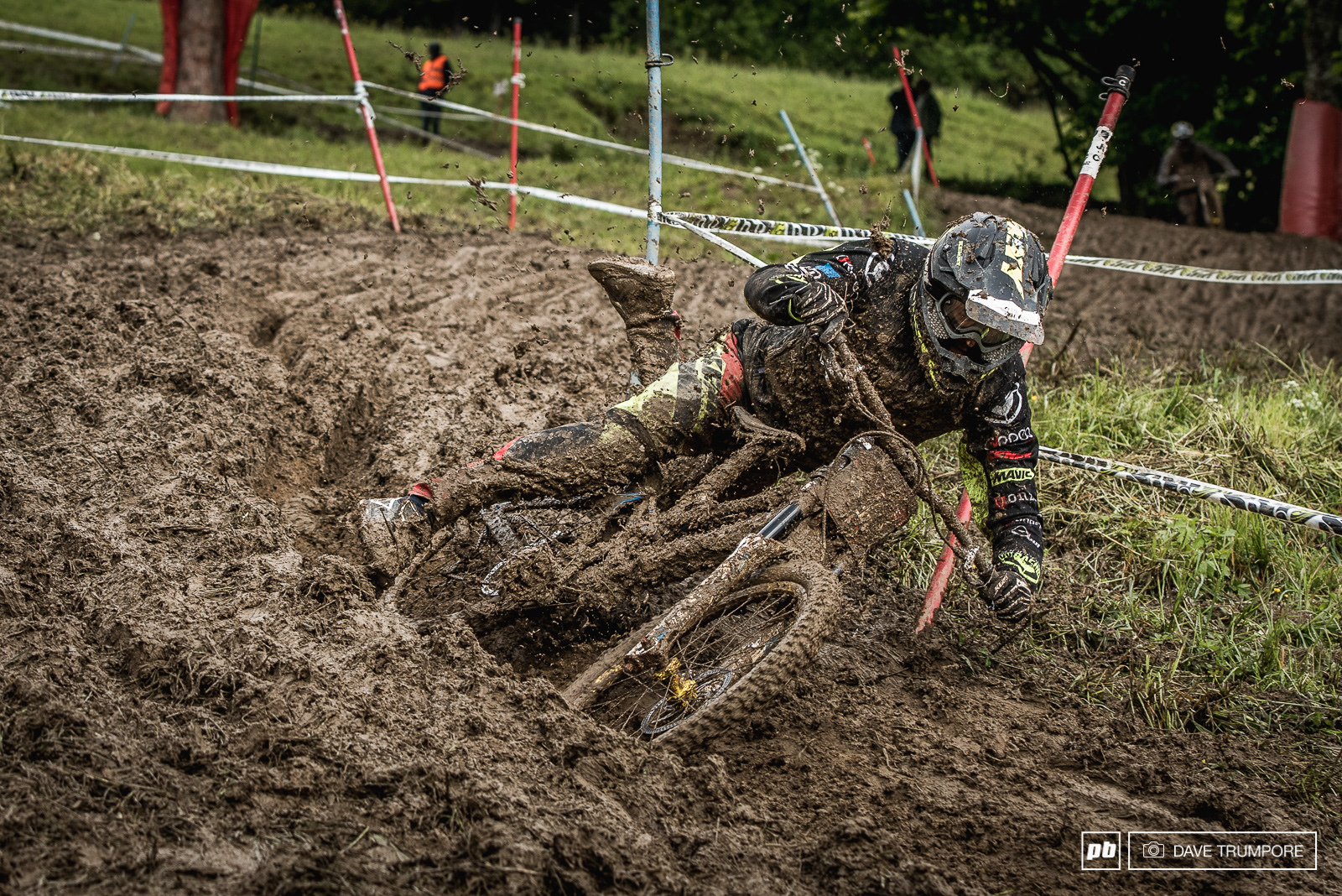 The ruts were eating a lot of bikes and riders today.