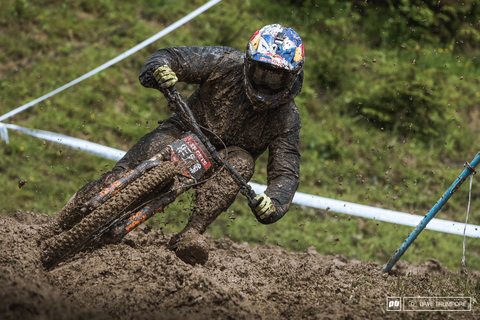 Brook MacDonald knows how to muscle it through an axle deep rut.