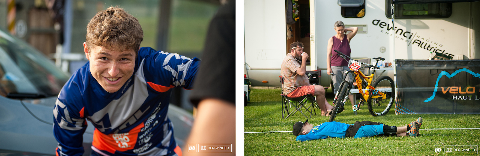 But back to this morning Elliot Baud left and on the right some rest before the big day.
