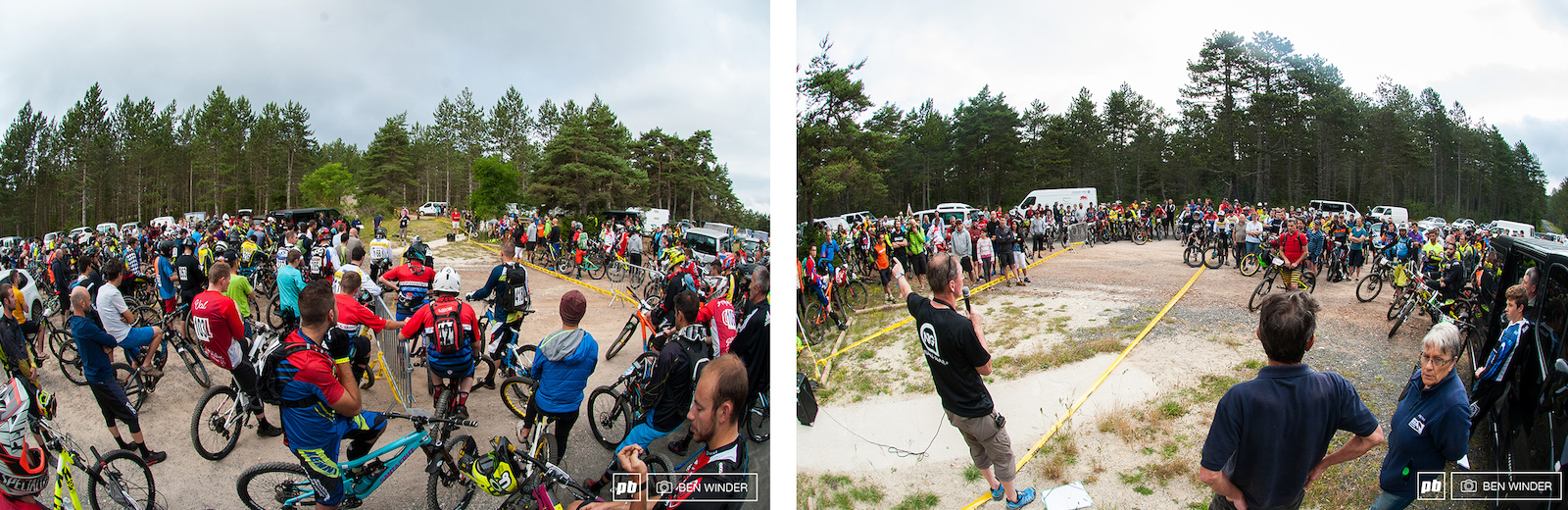 The riders briefing took place at 8.30 just before the start of Stage 1.