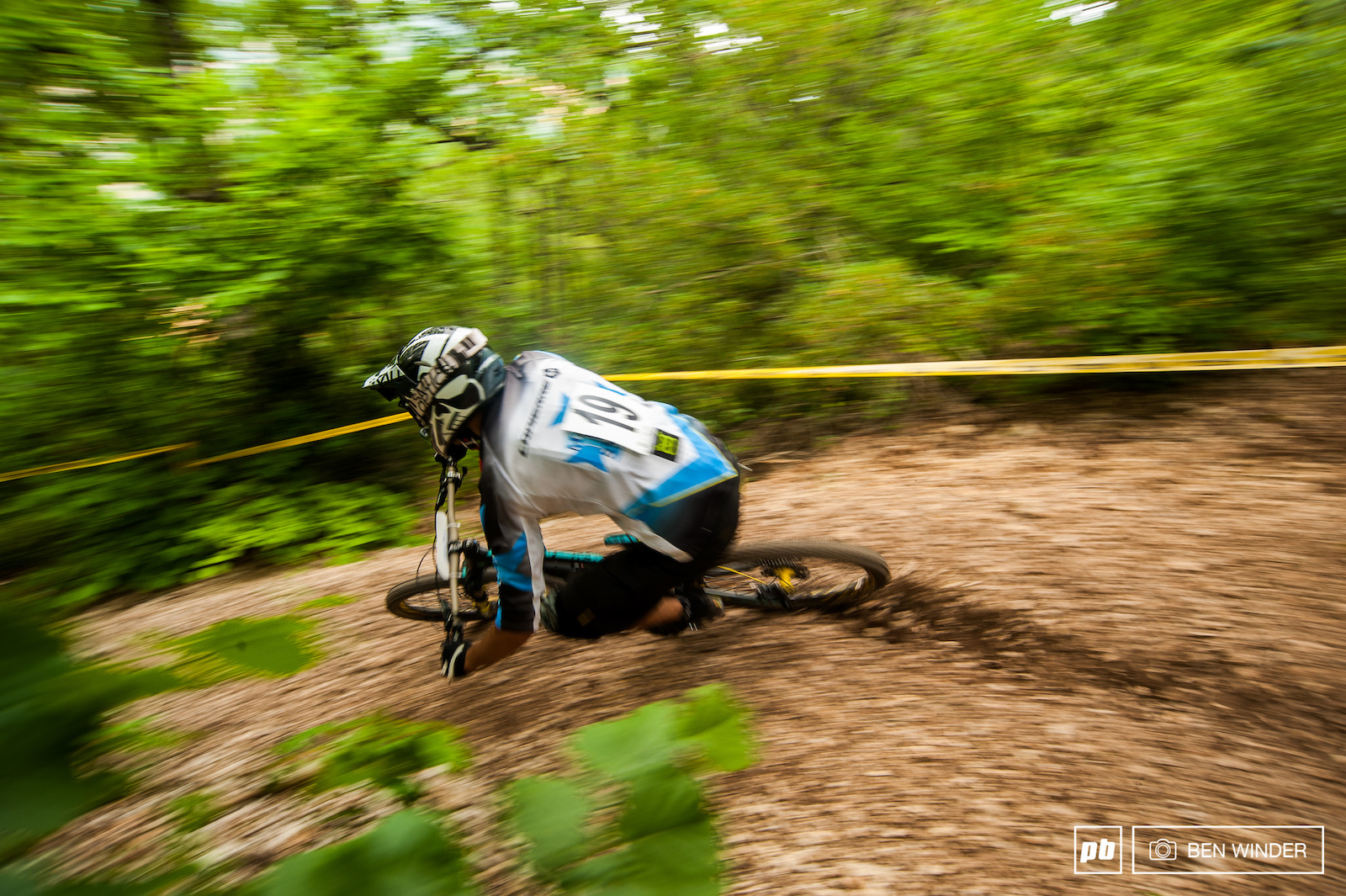 After each rider hit this corner you would hear a wooo or yeee a super fun section of trail.