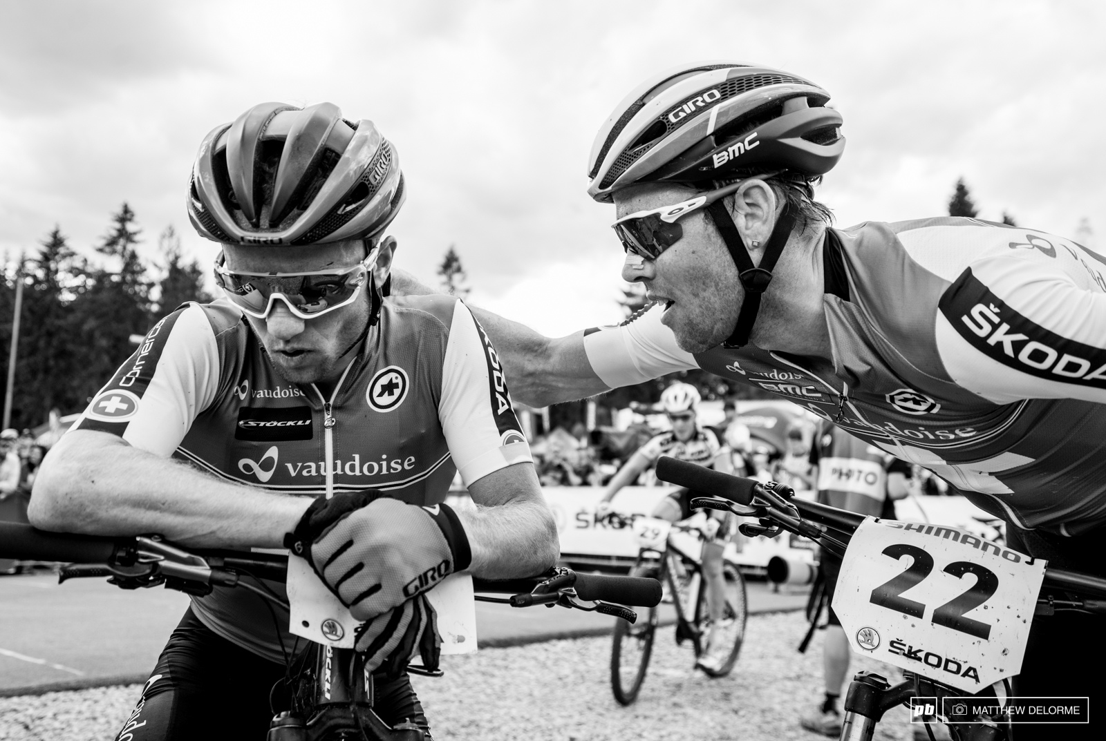 Brothers are always there with a kind word at race end.
