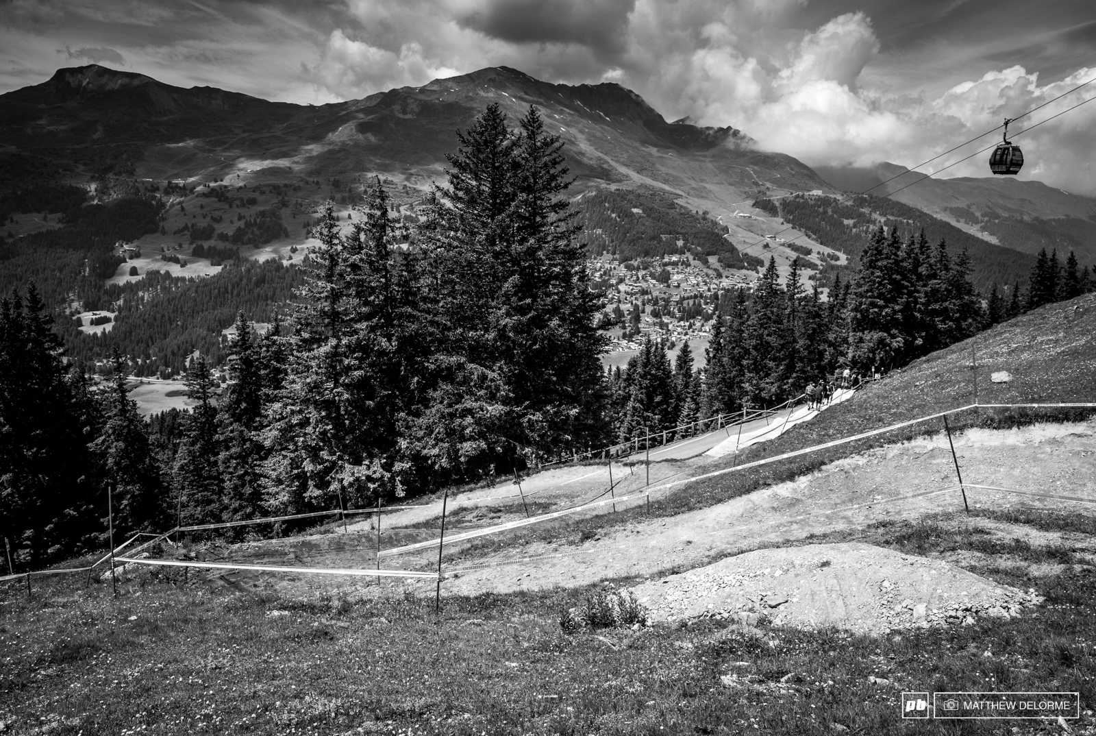 Gone is the off-camber rocks and open piste. In it s place are smooth berms. Bike park for days.
