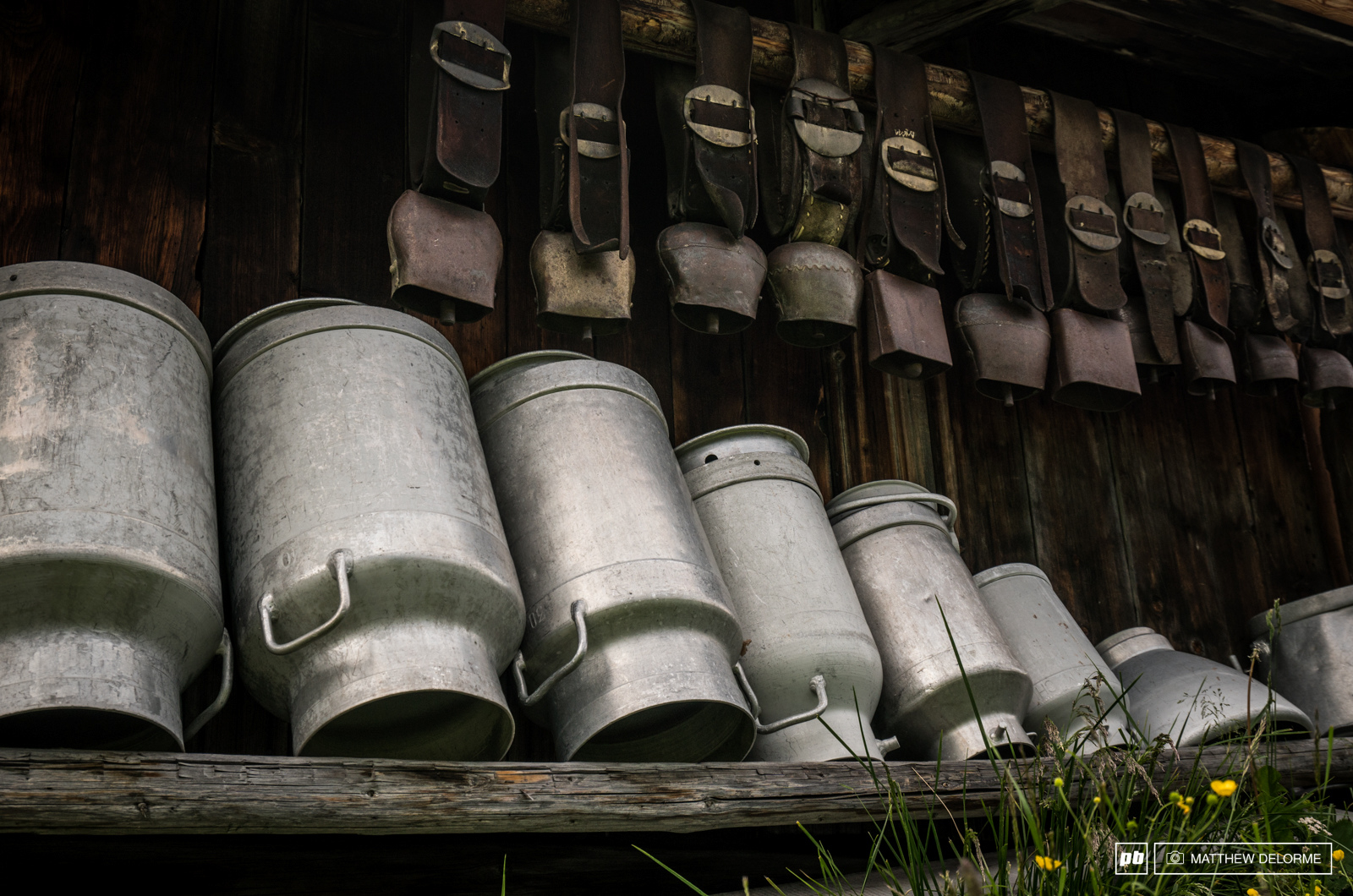 When there are this many milk jugs and cow bells about you can only be in Switzerland.