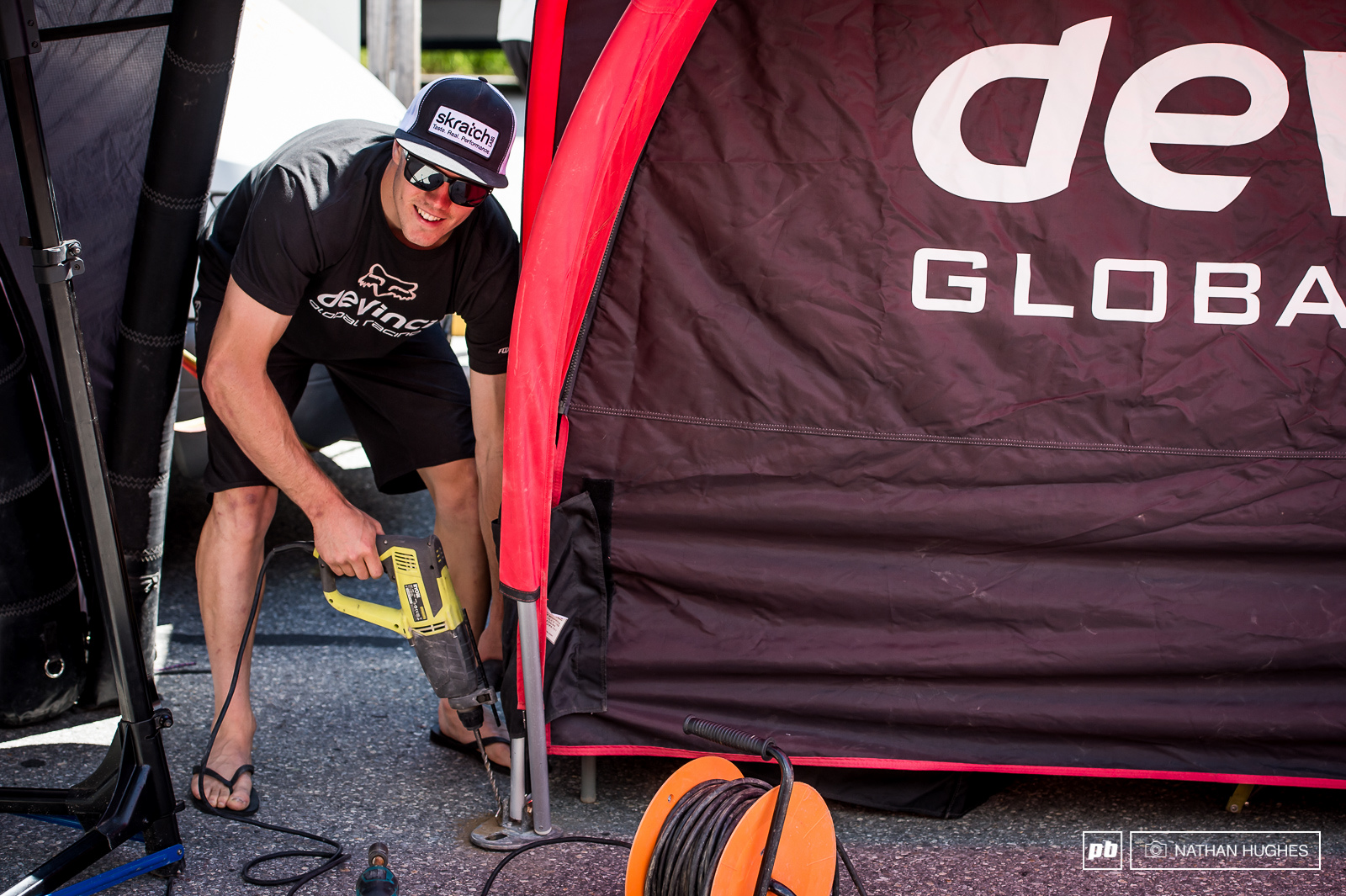 High-power drills and flip-flops... what could go wrong. Mark Wallace in it for the thrill.
