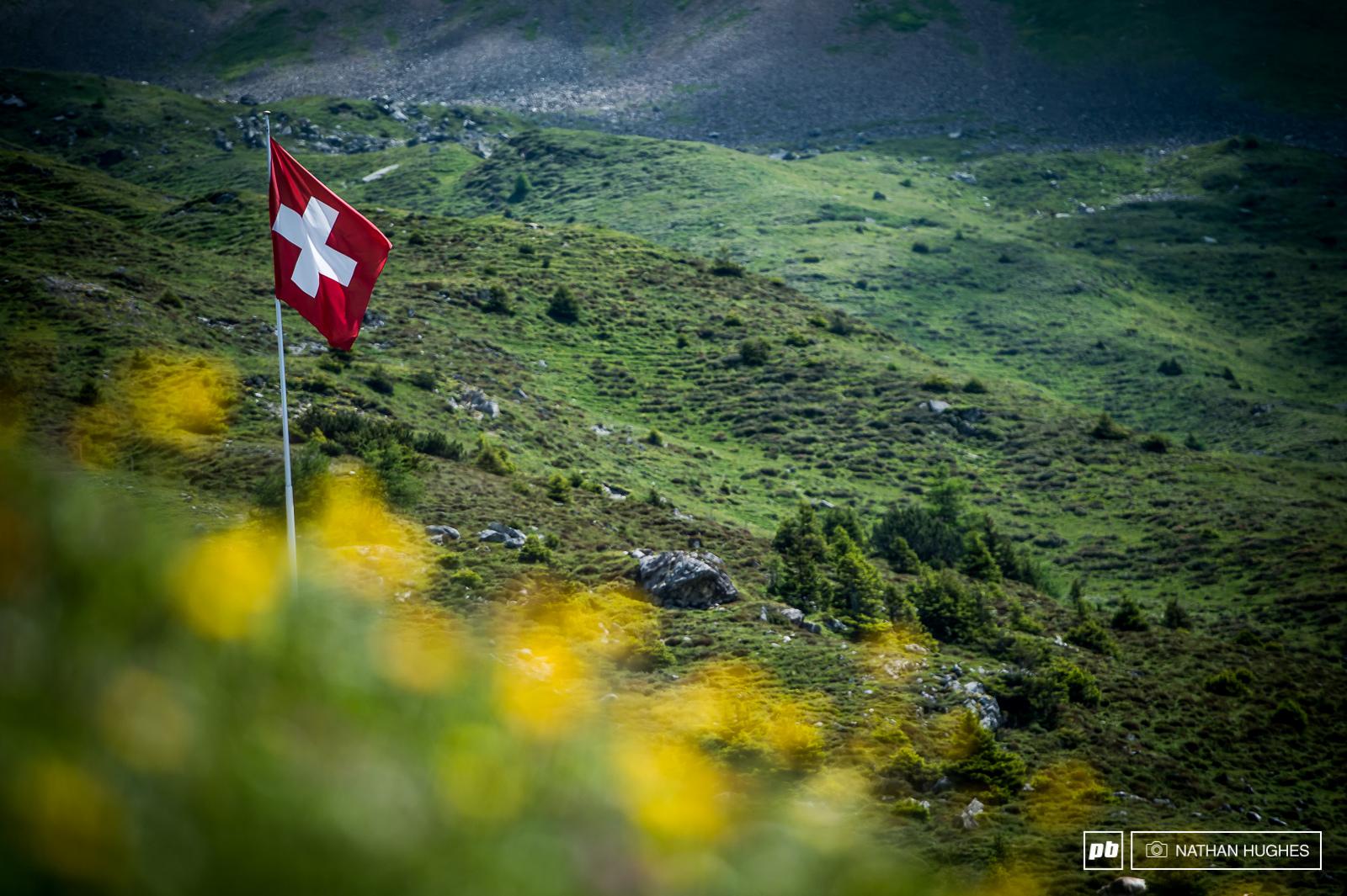 All hail the beautiful mountain scenery of Switzerland.