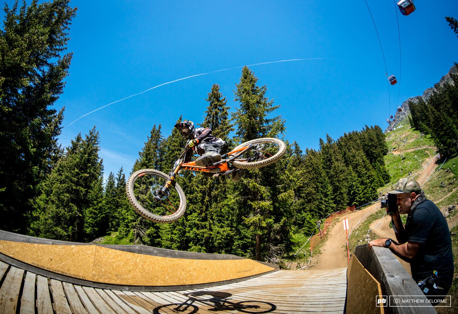 Sven Martin found some precarious footing from which to shoot some fisheye whips.