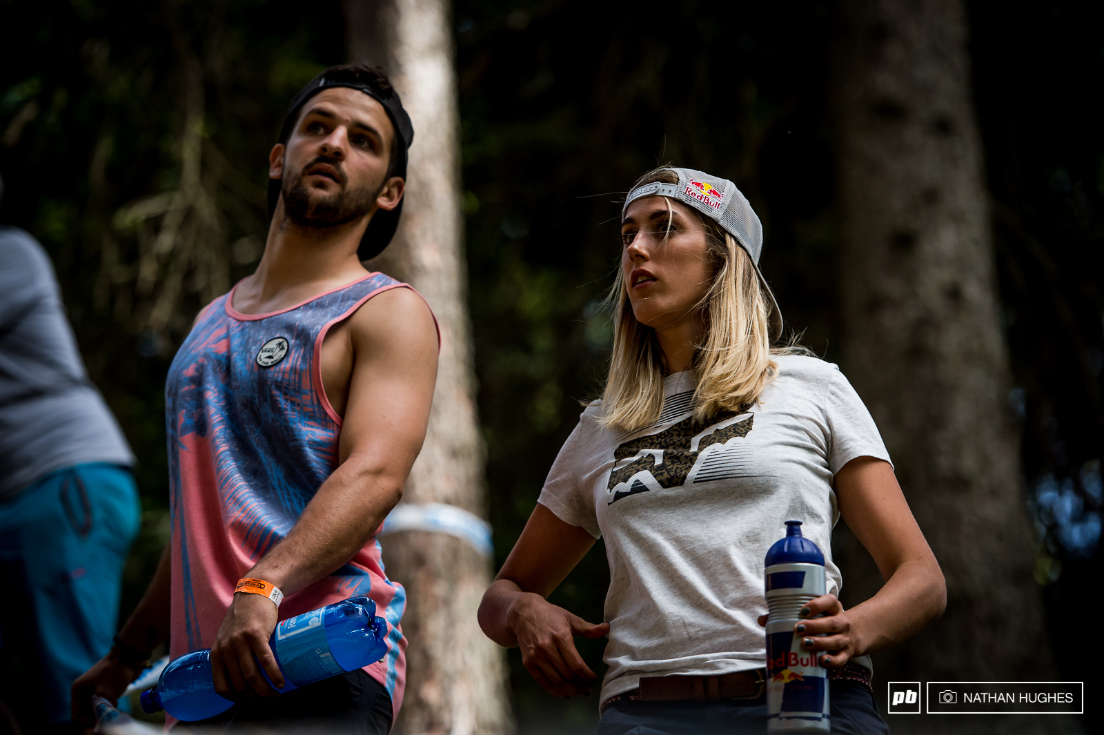 Myriam Nicole and Gaetan Ruffin share their line knowledge in the upper woods while watching the TT. Great to see Pompon back in the mix