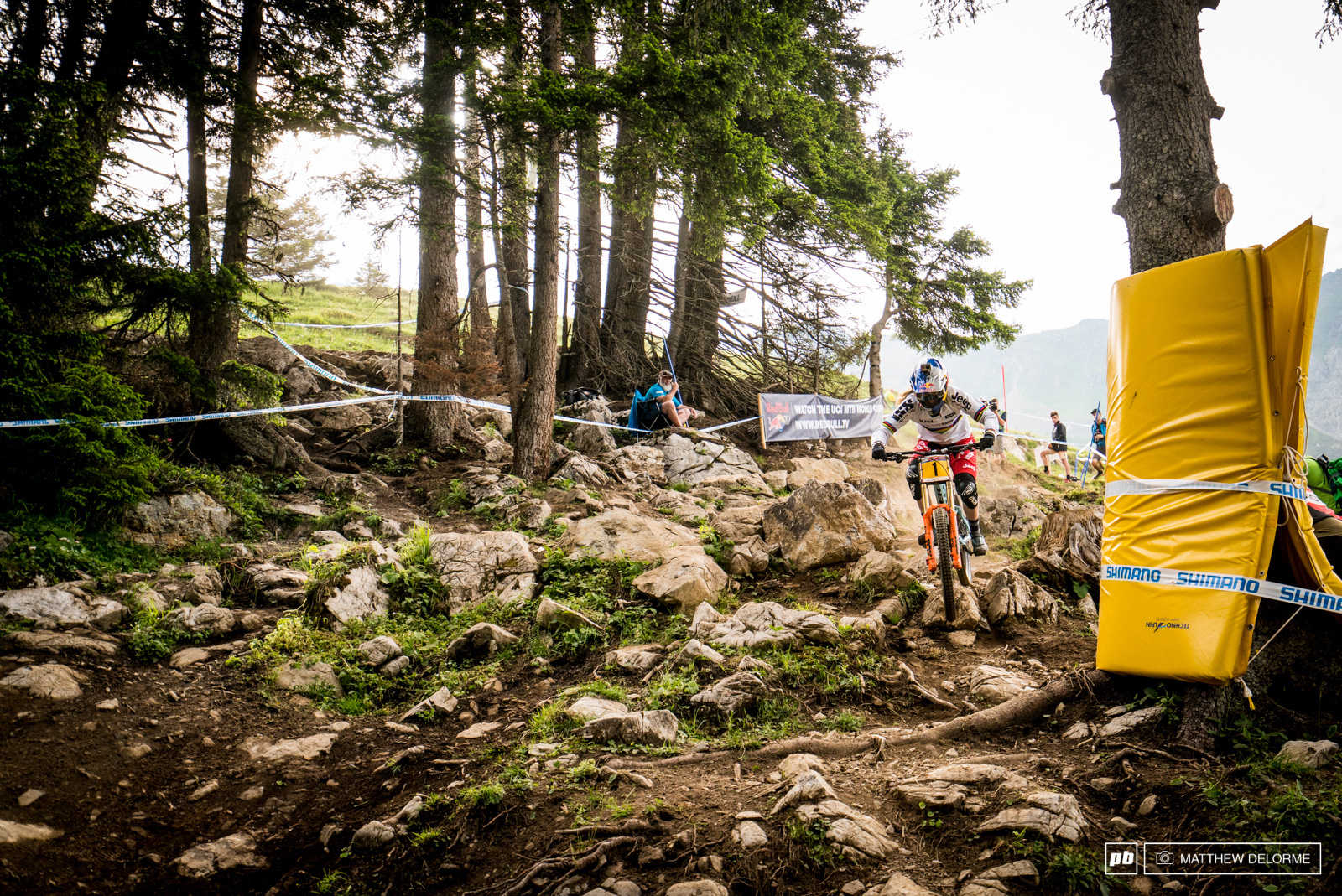 Rachel Atherton qualified second today but you can bet she will be on it for the winning run tomorrow.