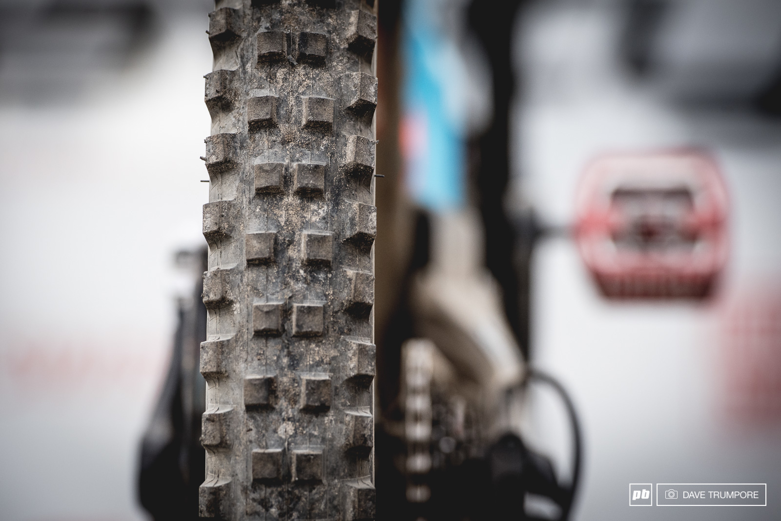 Loose and blown out tracks often call for some cut down mud spikes as riders try to find grip on the hardback below.