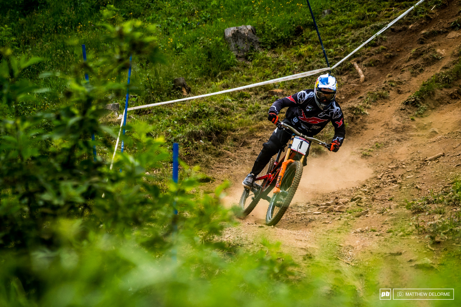 Aaron Gwin had the four fastest splits but it wasn t enough at the end of the day.