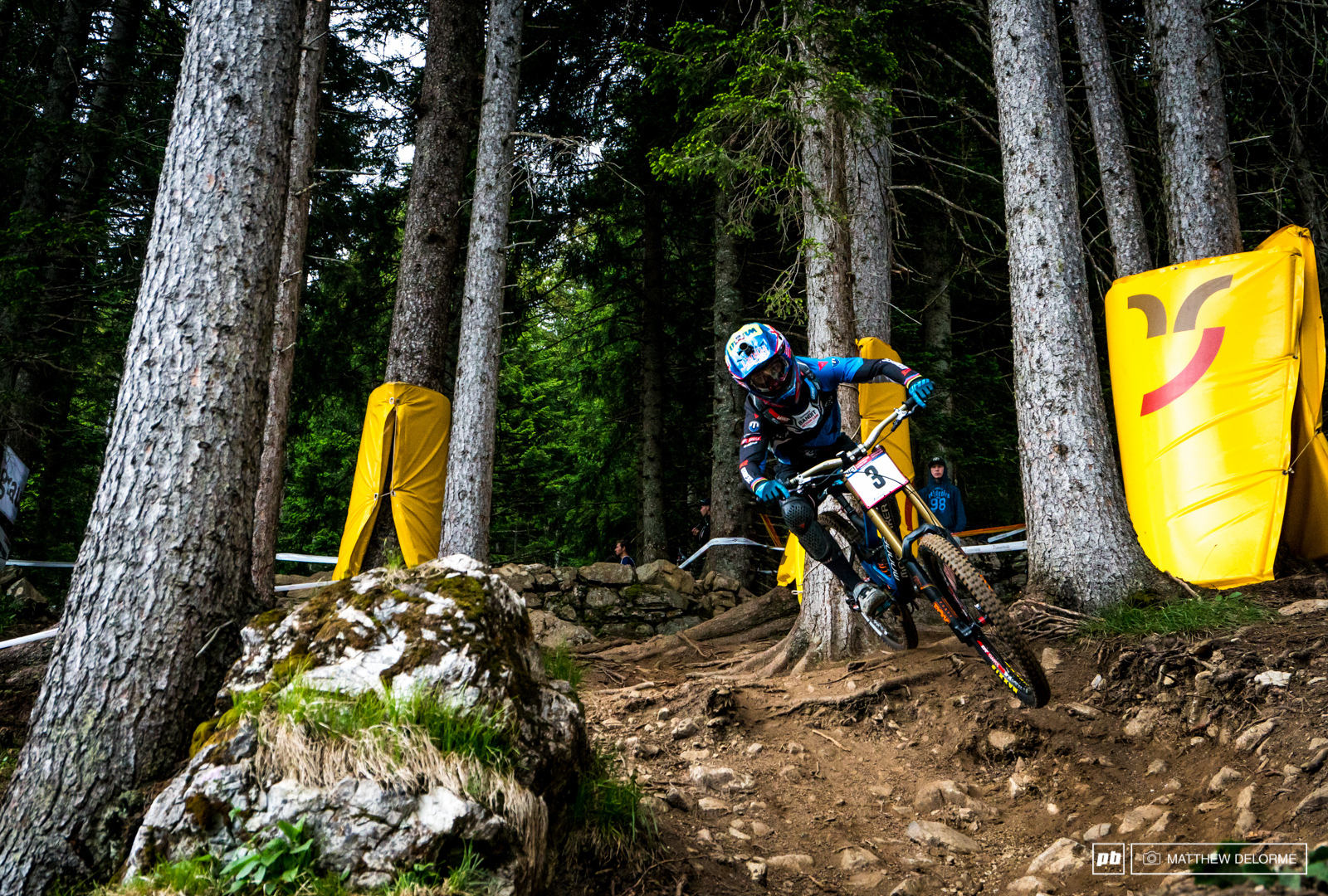 Danny Hart on had no problems on the steep track here in Lenzerheide.