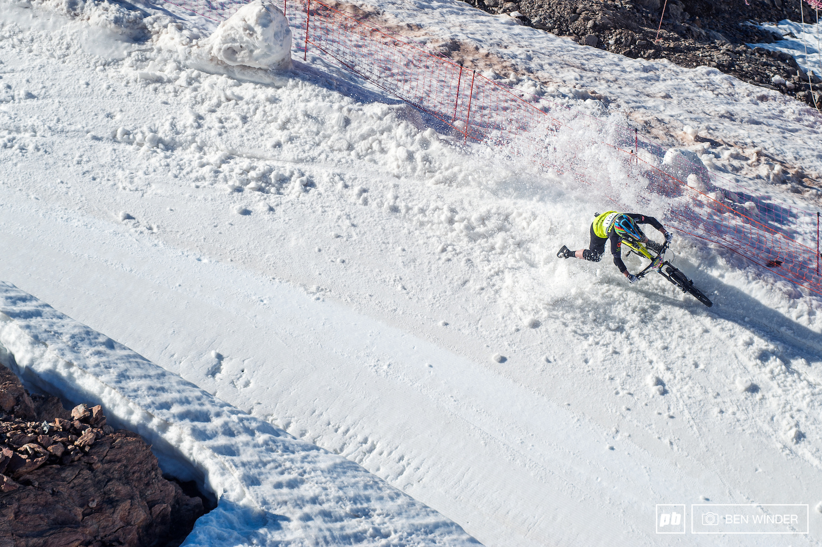 Bex Baraona found a bit of un-pisted snow.