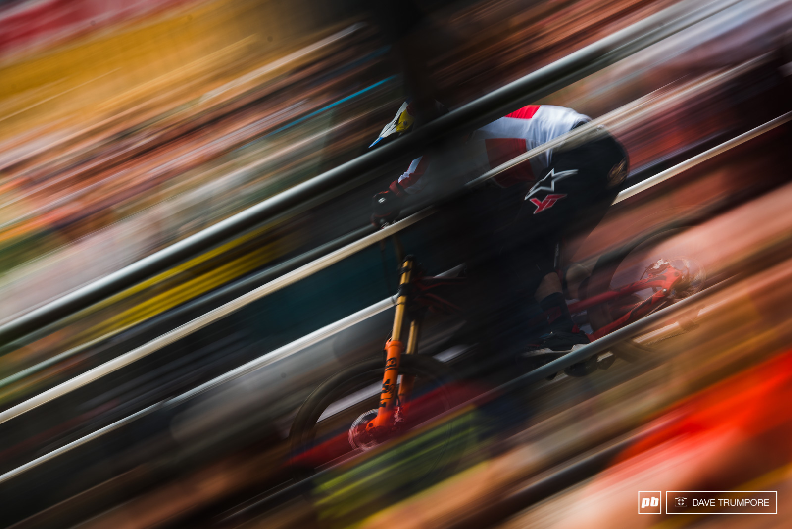 Warp Speed for Aaron Gwin as he heads into the finish arena.