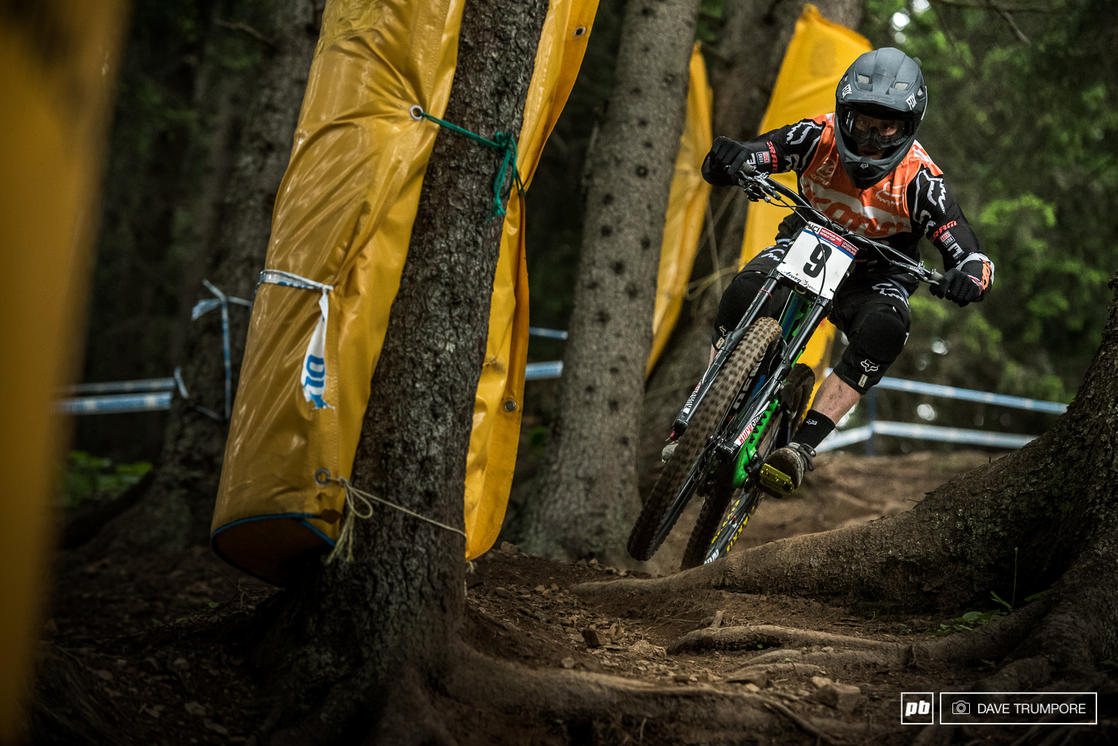 Full speed and just inches from the trees is what it takes to land yourself on the podium. Nice work Connor Fearon.