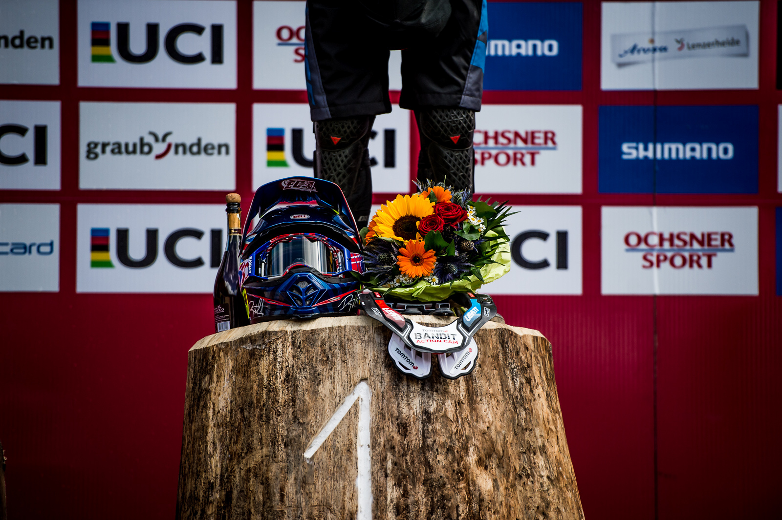 Danny helmet podium