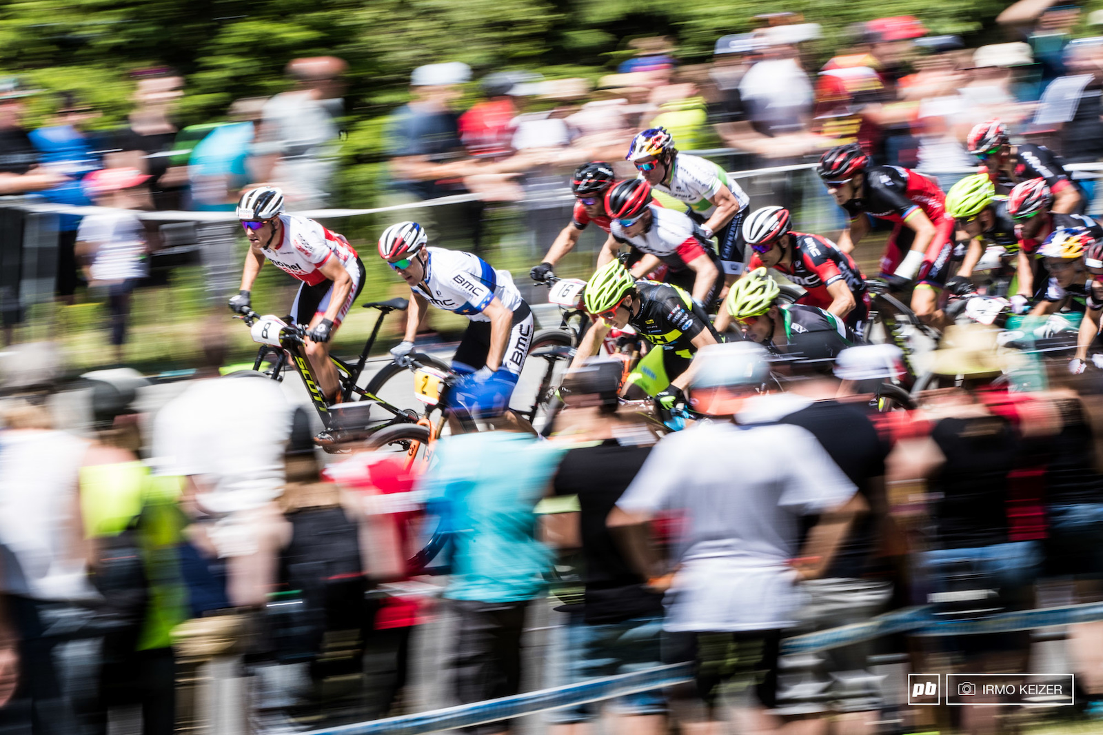 An uphill start saw riders charging hard.
