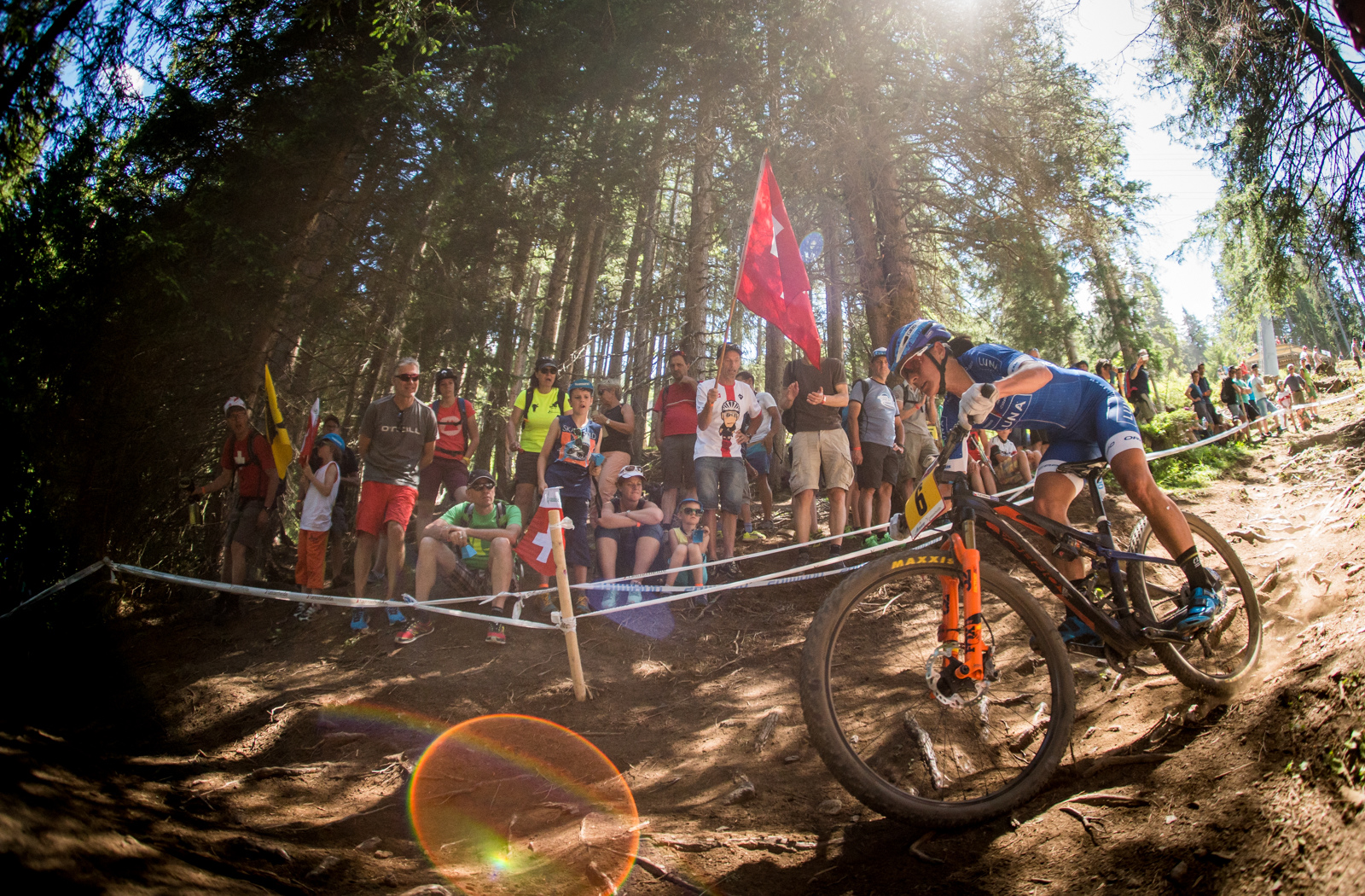 Katarina Nash had a roaring good day out on the dusty Lenzerheide course. Nash took fourth.