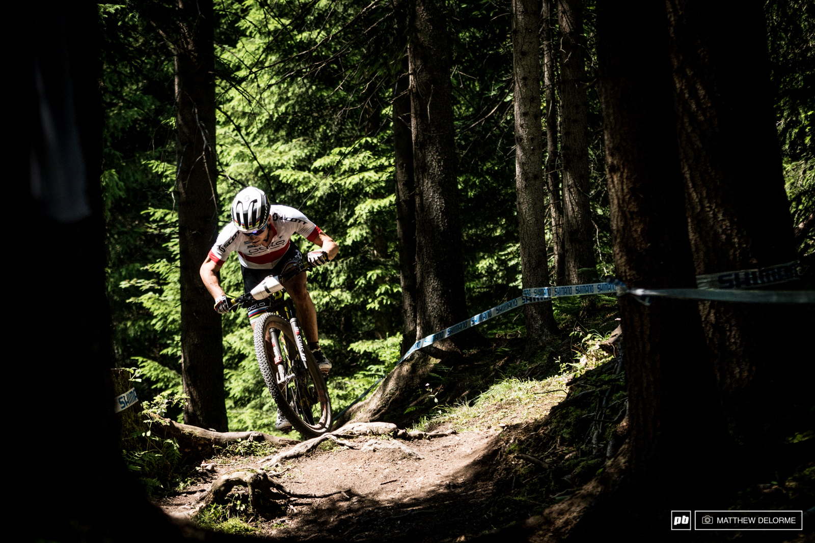 Nino Schurter all but ran away with another win today.
