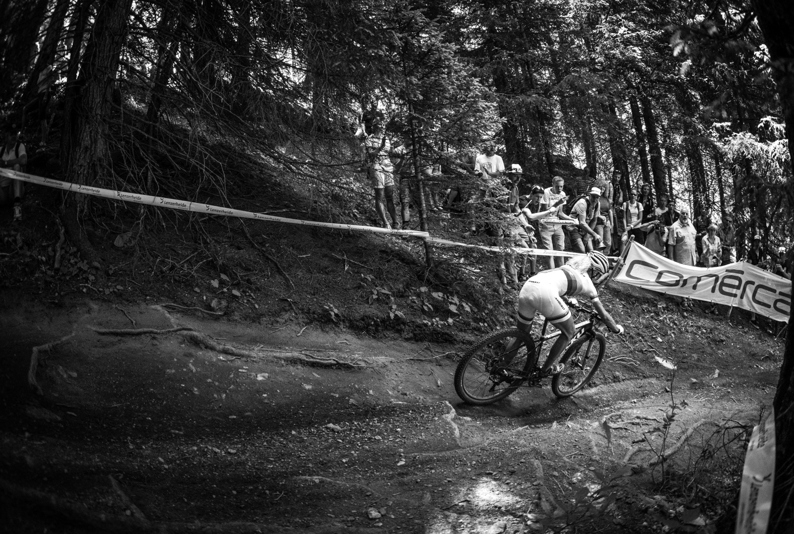 Jolanda Neff was flying down Heidi s Hell Neff had a much better day in Lenzerheide than she did last year.