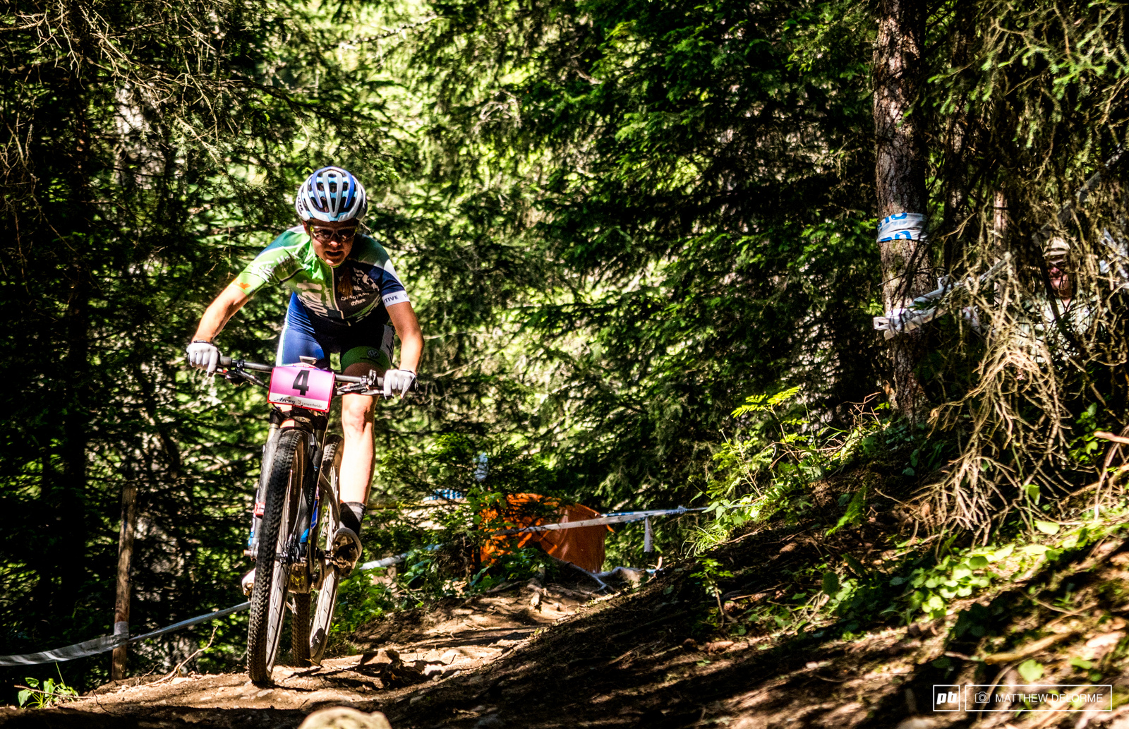 Anne Tauber had a strong ride in the heat to third place.