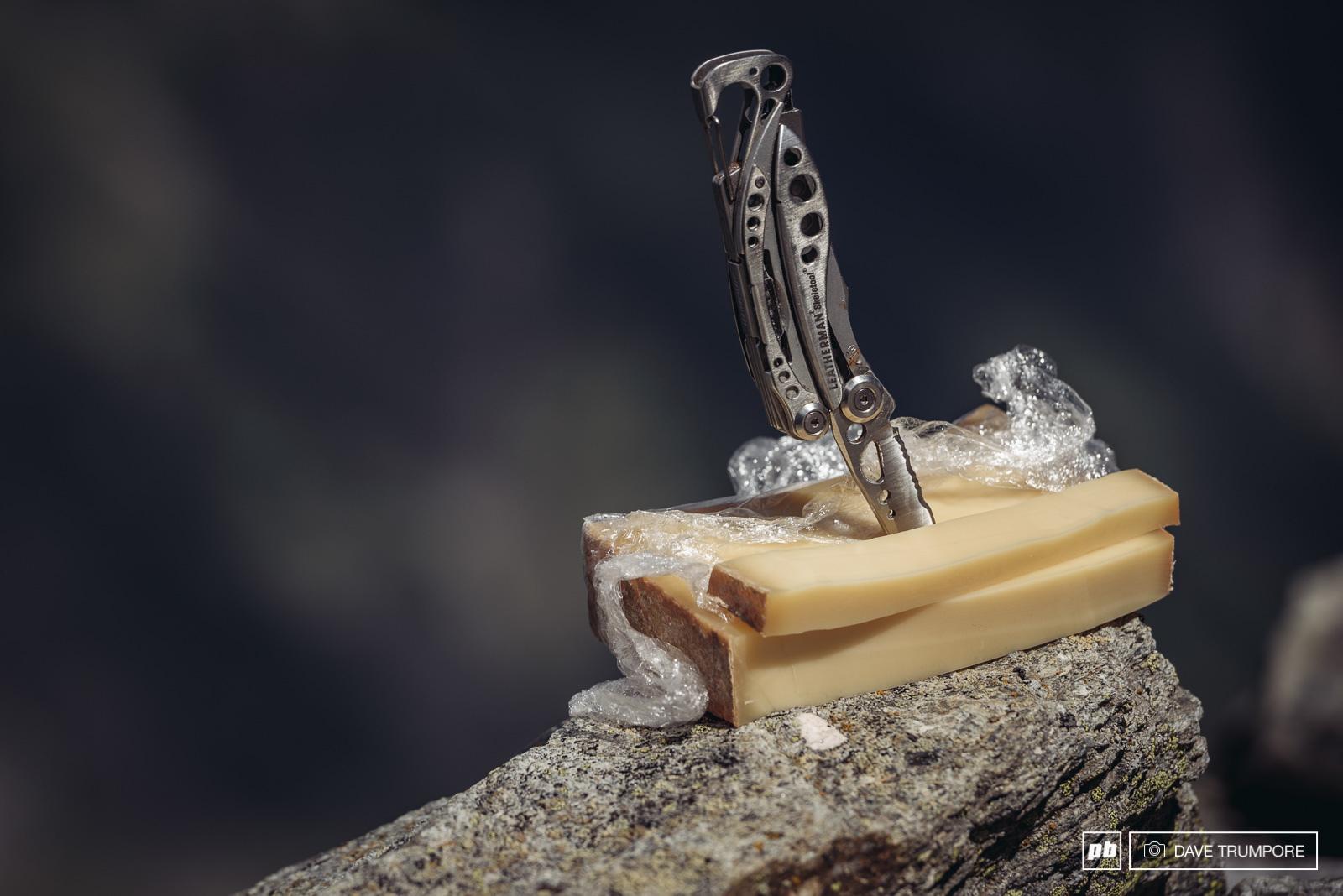 Swiss blades French cheese and Italian granite.