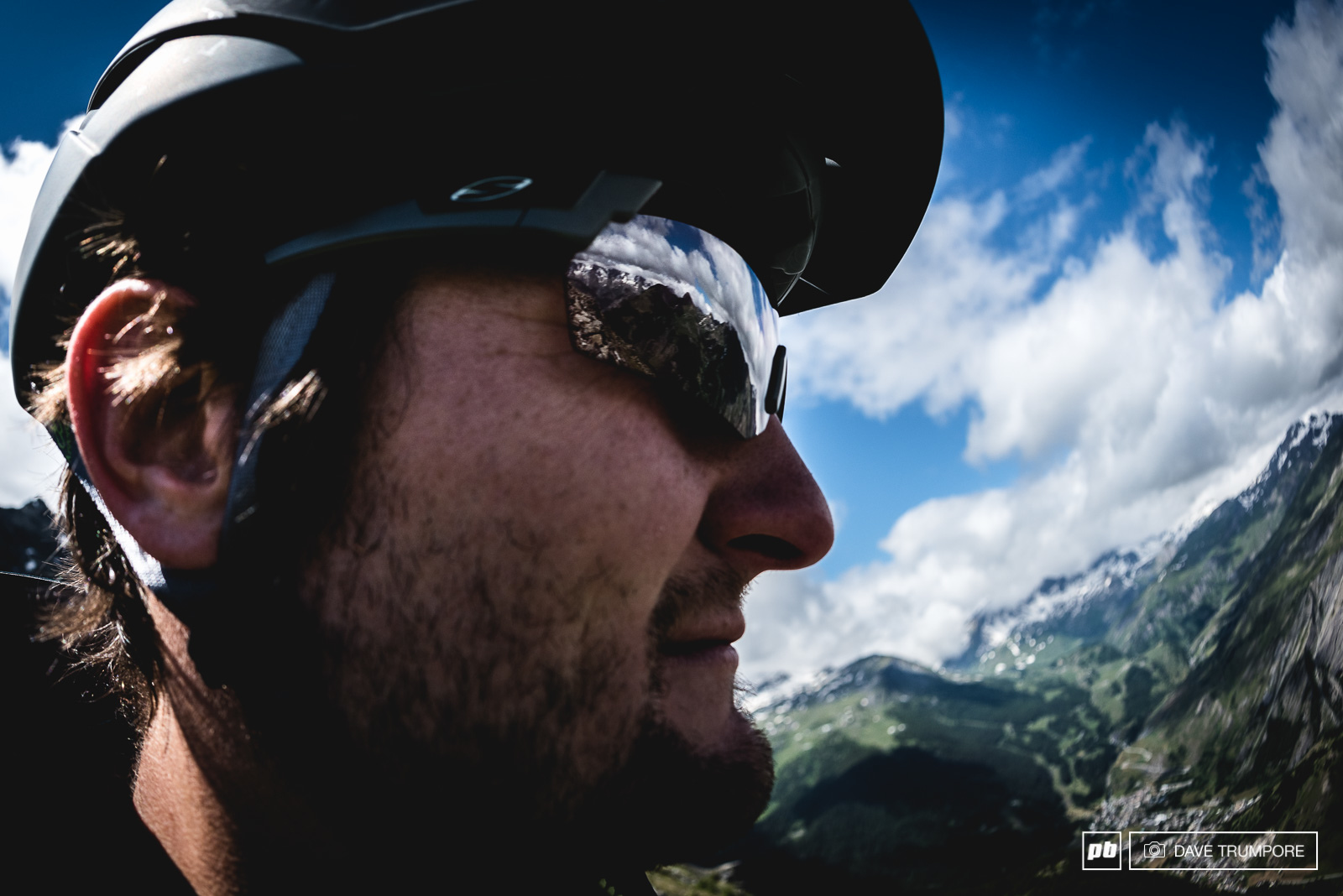EWS director Chris Ball surveys the incredible views from the top of Stage 1.