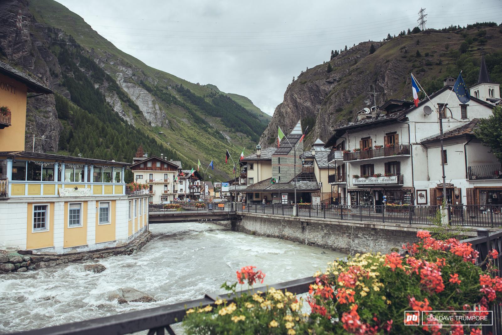 The alpine Village of La Thuile.