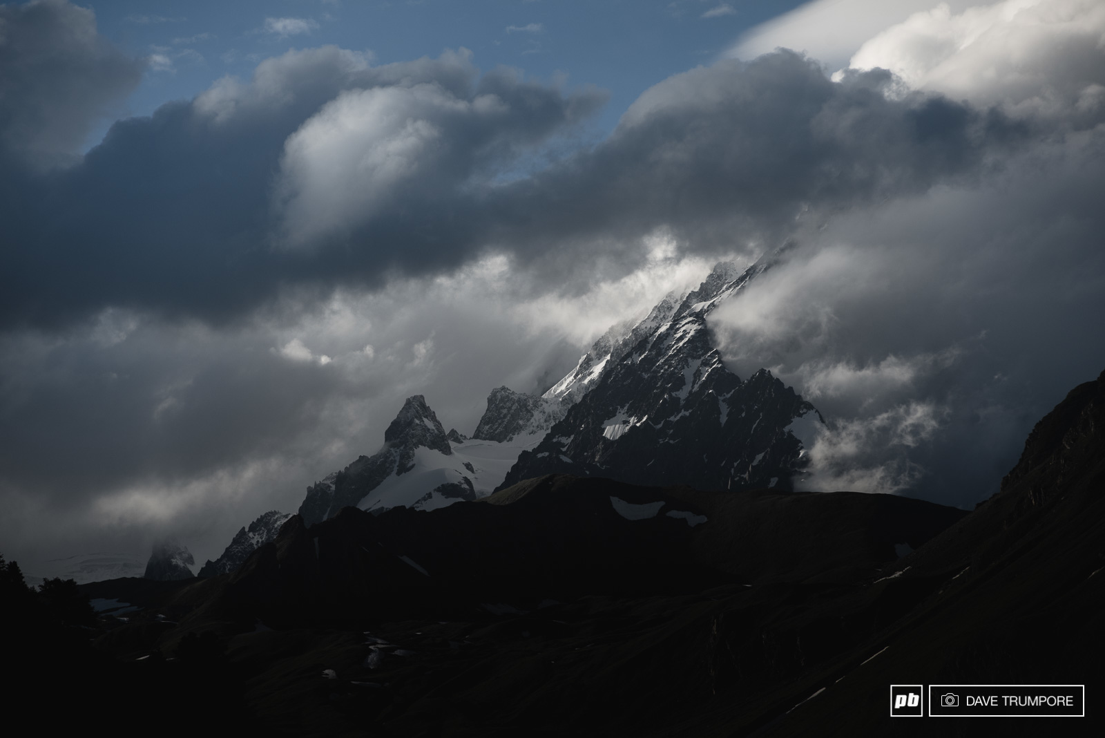 The summit of Monte Bianco towering some 3200 meters above the village of La Thuile dictates much of the weather here in the Aosta Valley. Weather that can change quickly and often.