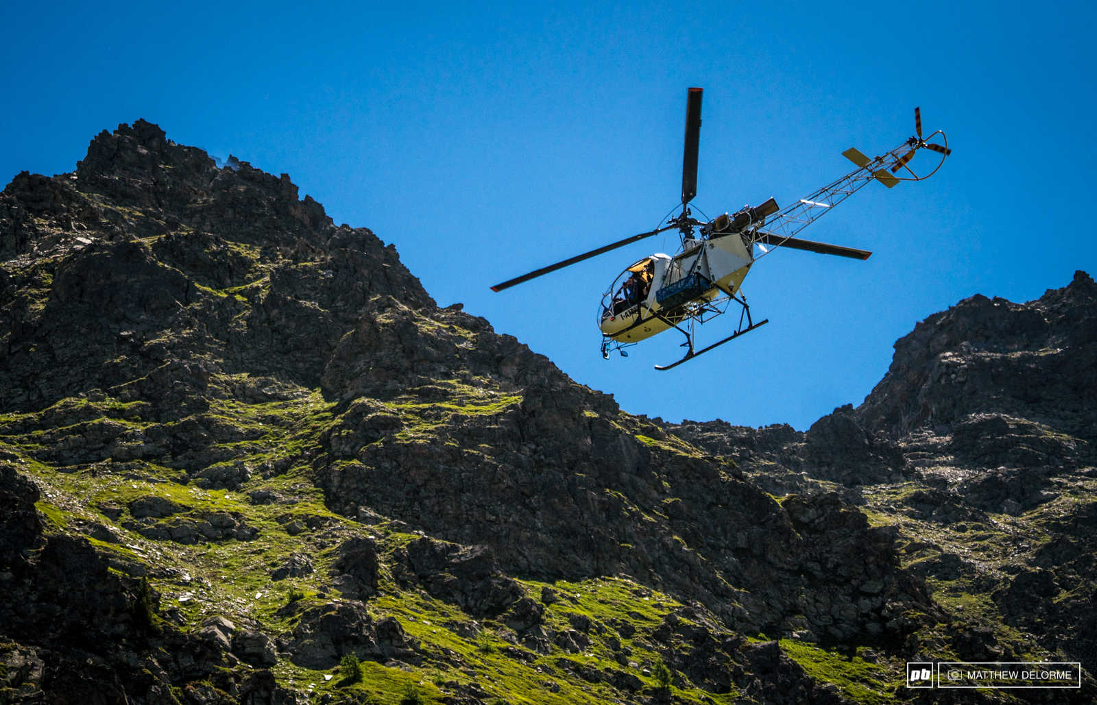The EWS video crew was treated to a day in flying scaffolding for some stellar areal footage.