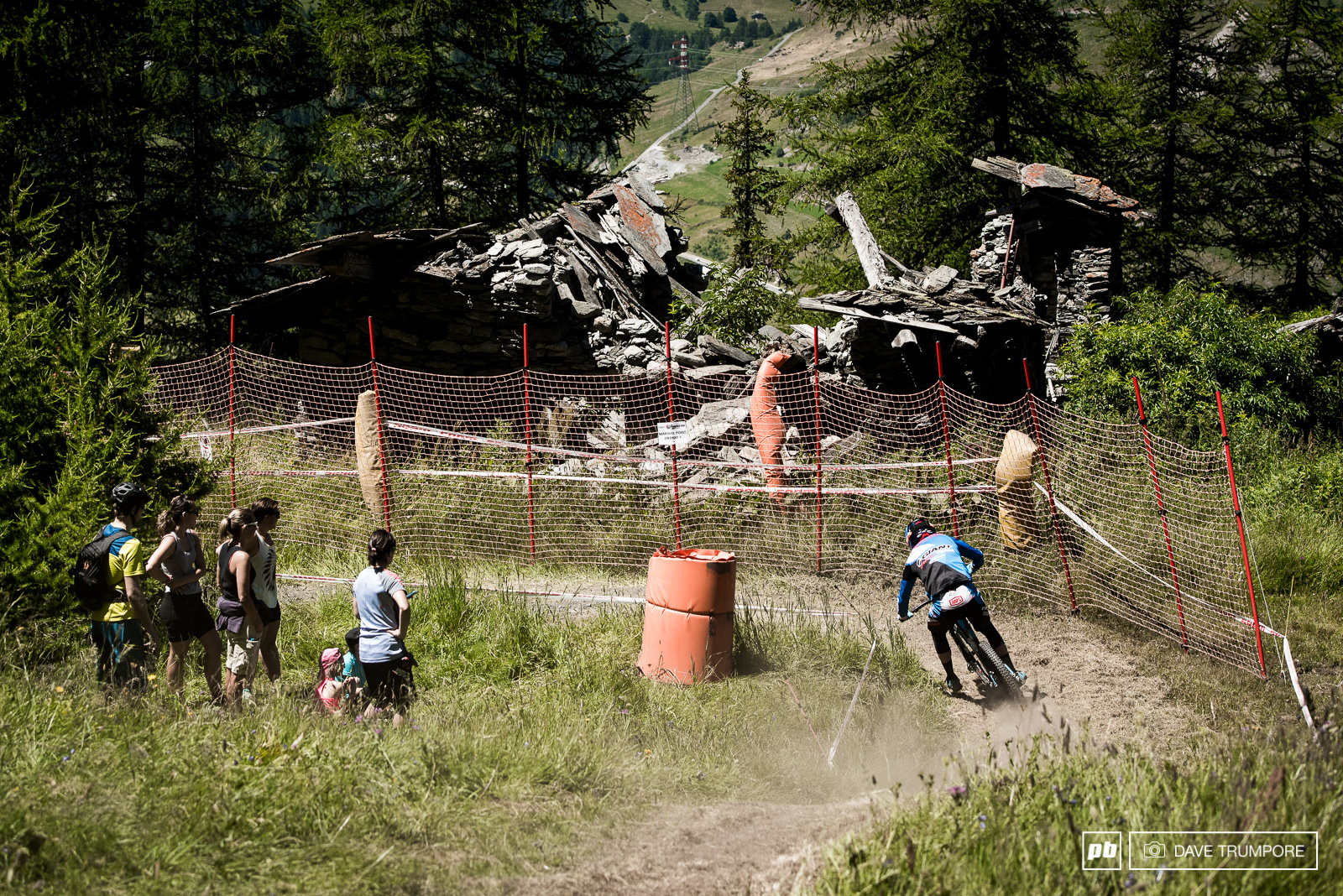 Some of the sections looked more like a DH track than an EWS with riders riding at full gas foot out and flat out.