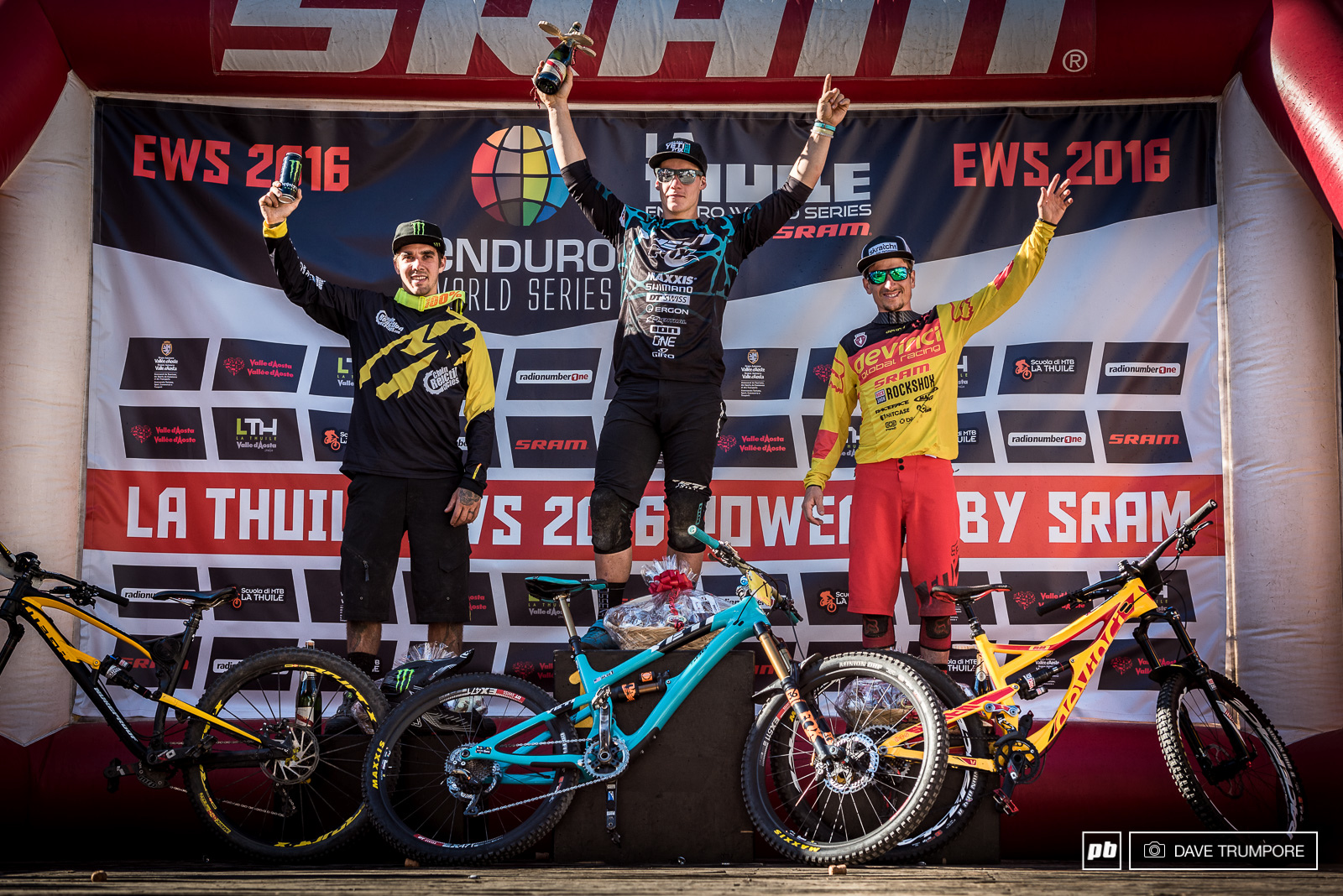 Richie Rude Sam Hill and Damien tackled the monsterous La Thuile EWS and came out on top.