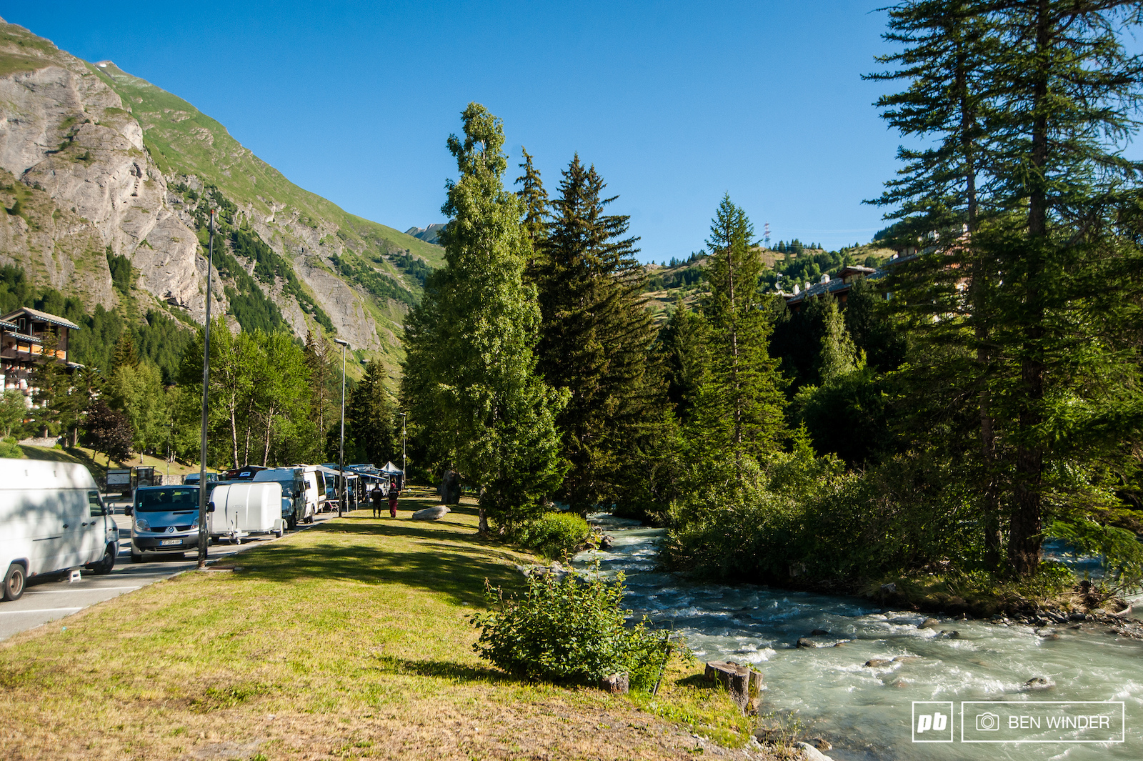 This year the campsite was just by the glacial river only one row of campervans in the main carpark. In previous years we ve seen carparks rammed.
