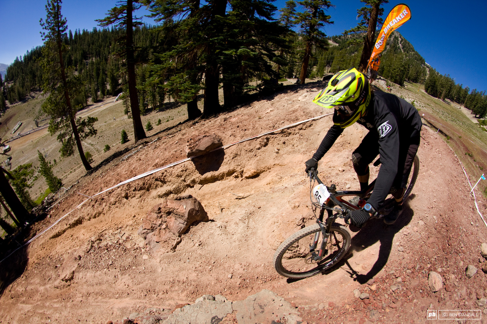 Shared with Saturday s Downhill track the Elevator Shaft is the final section of Stage 2 of the Enduro.