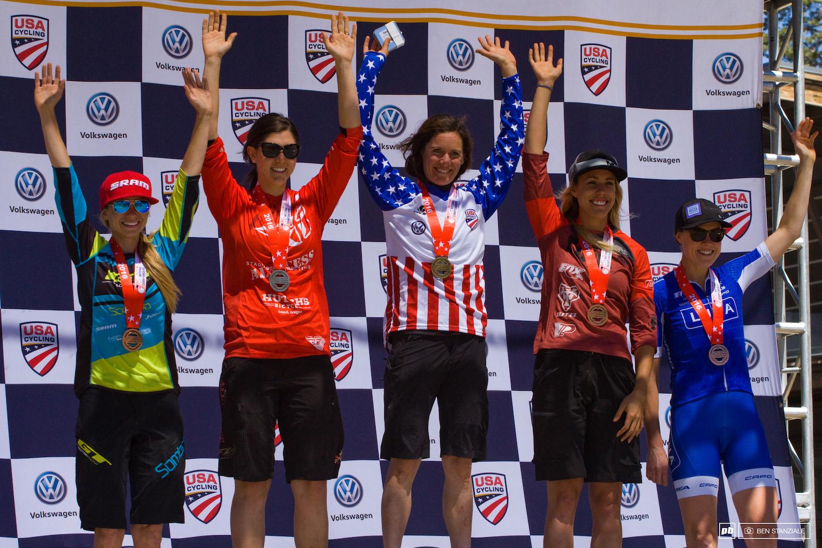 Your Womens Pro Enduro Podium 1st- Kelli Emmett. 2nd- Porsha Murdock. 3rd- Lauren Gregg. 4th- Rachel Throop. 5th- Georgia Gould.