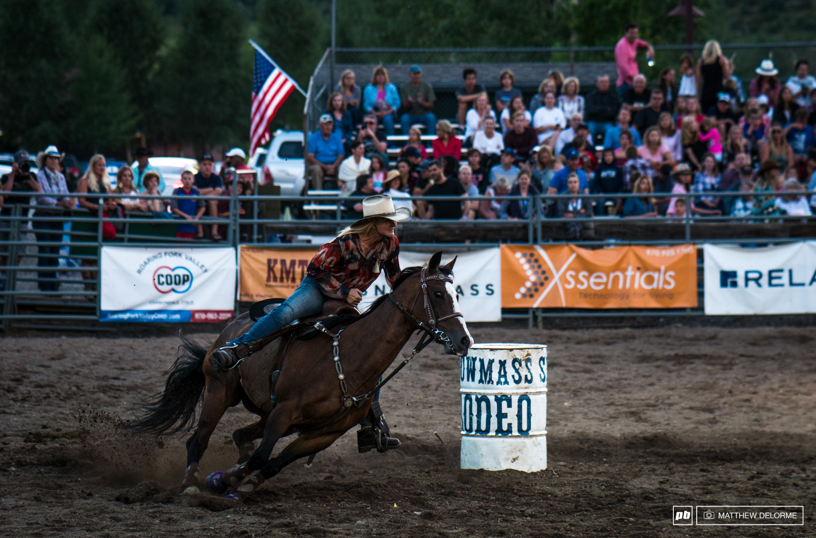 We watched the dirt fly during a bit of barrel racing at the Snowmass rodeo.