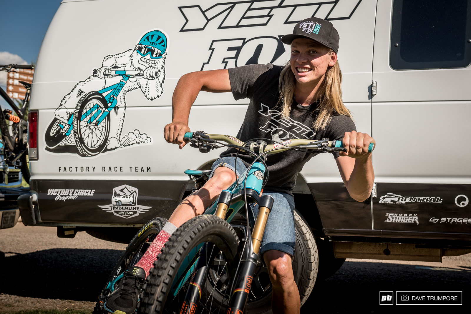 New wheels and new van graphics with Cody Kelley in the Yeti pits.