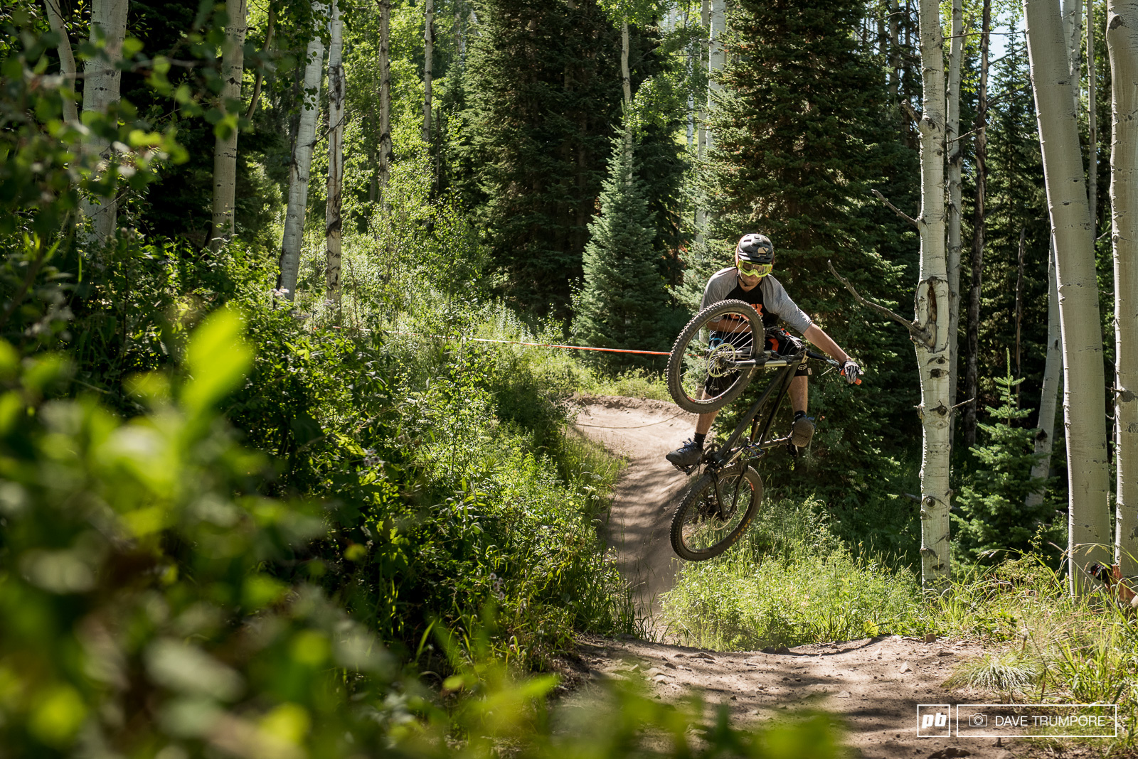 There is a bike park on the Snowmass side of the venue but other than this jump and maybe a berm or two racers won t be riding any of it.