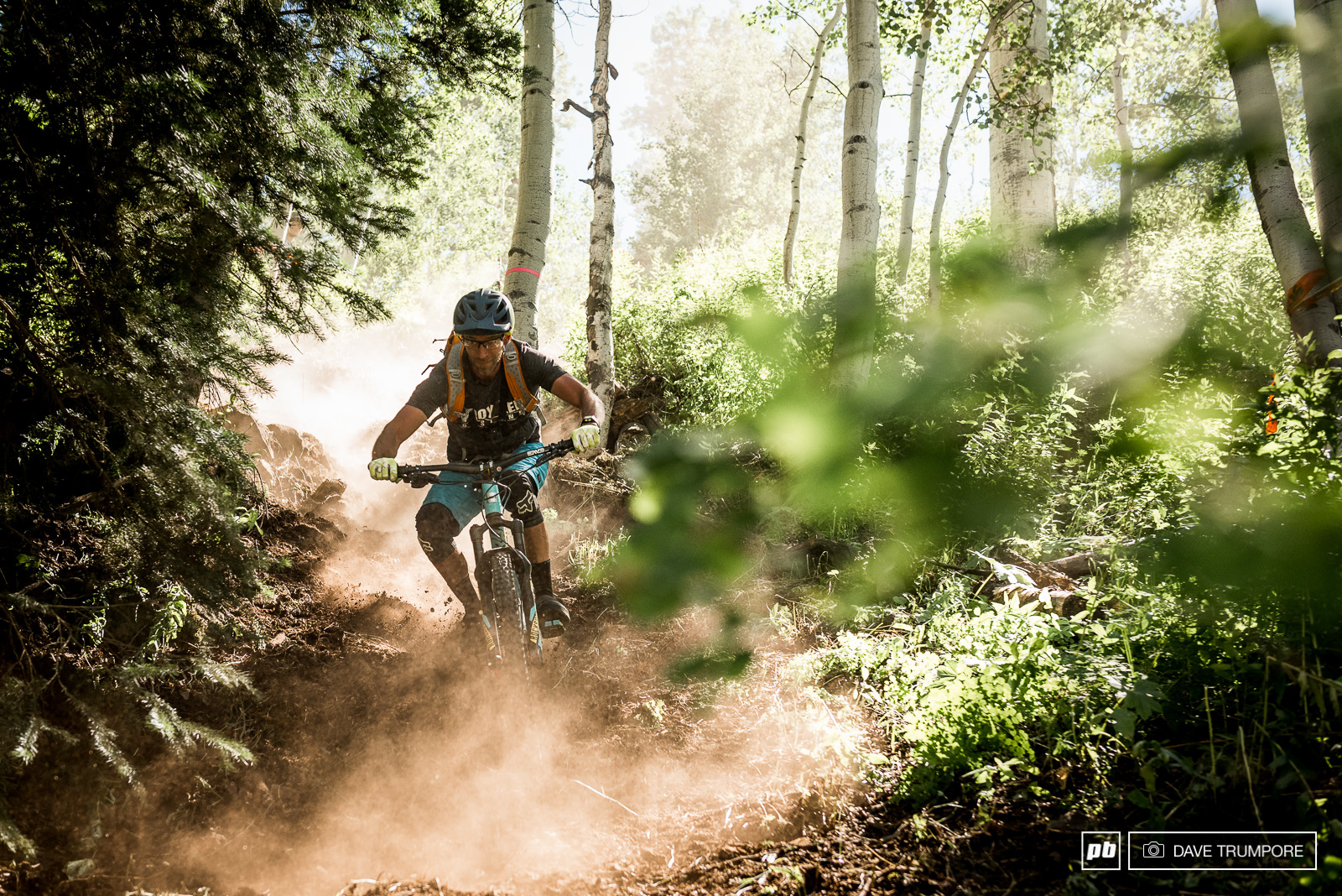 Lots of fresh cut trails were added to stages 1 and 3 and while the surface is fairly soft and almost loamy it is turning to dust very quickly in the dry summer heat.