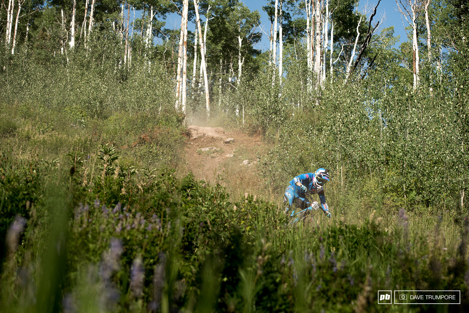Josh Carlson comes from a moto background so the super high speed open sections play right into his strengths.